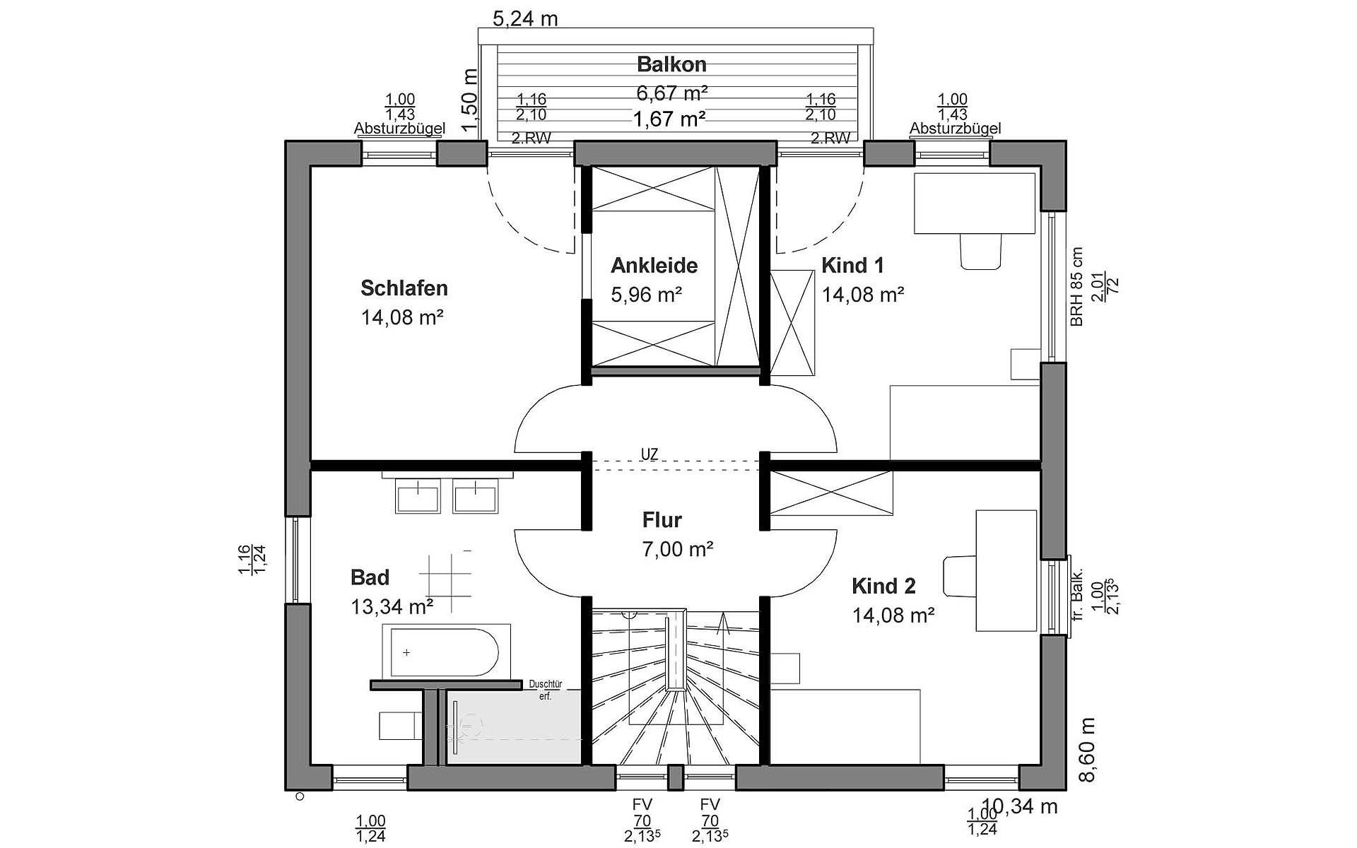 Obergeschoss Pultdach Klassik von LUXHAUS Vertrieb GmbH & Co. KG