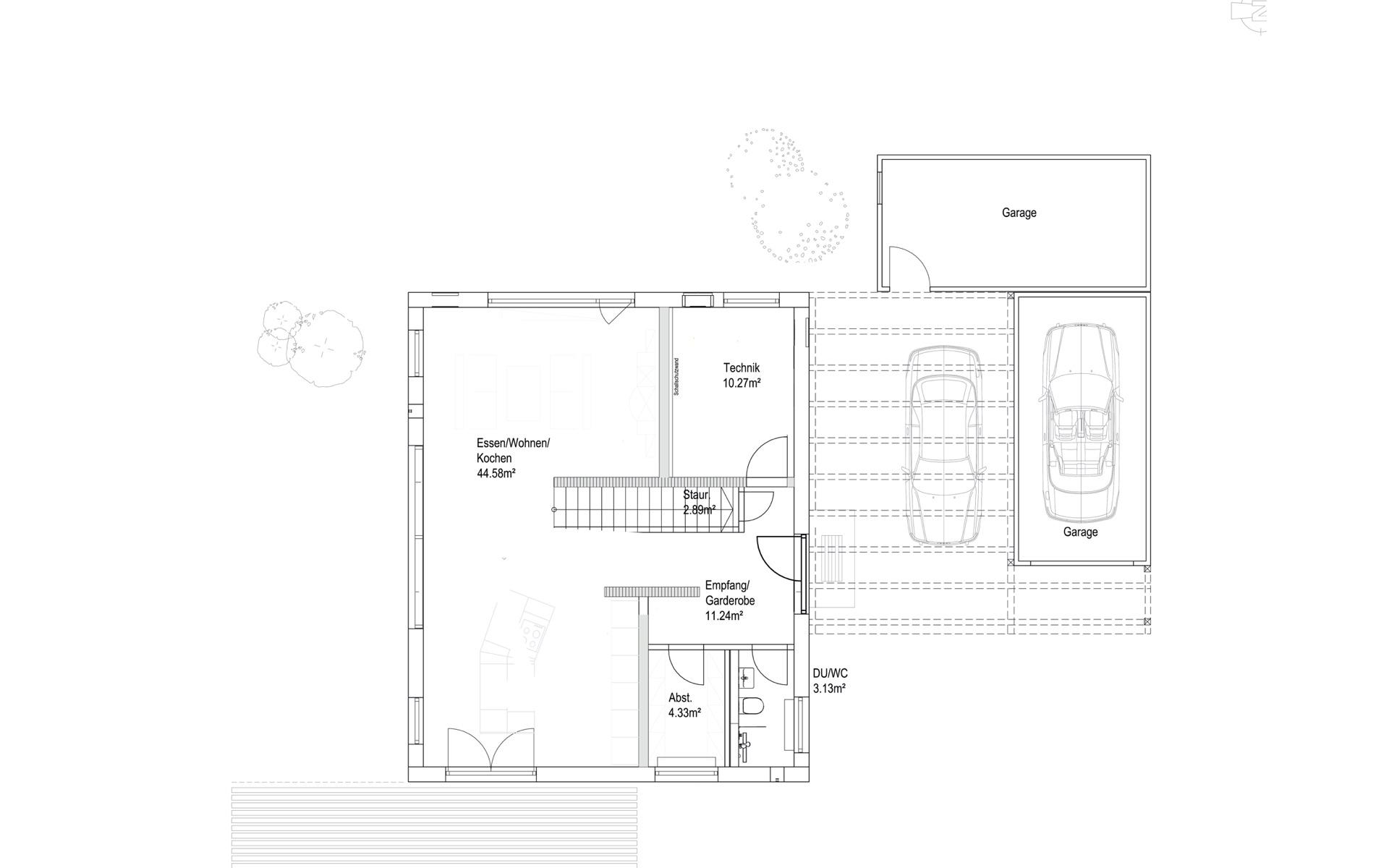 Erdgeschoss Pultdach Klassik 138 von LUXHAUS Vertrieb GmbH & Co. KG