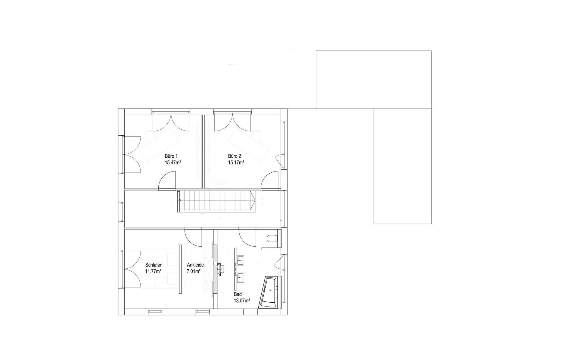 Obergeschoss Pultdach Klassik 138 von LUXHAUS Vertrieb GmbH & Co. KG
