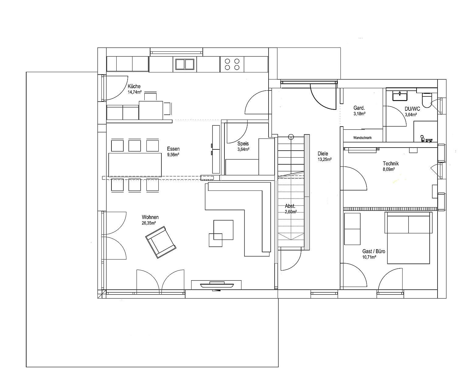 Erdgeschoss Pultdach Klassik 182 von LUXHAUS Vertrieb GmbH & Co. KG