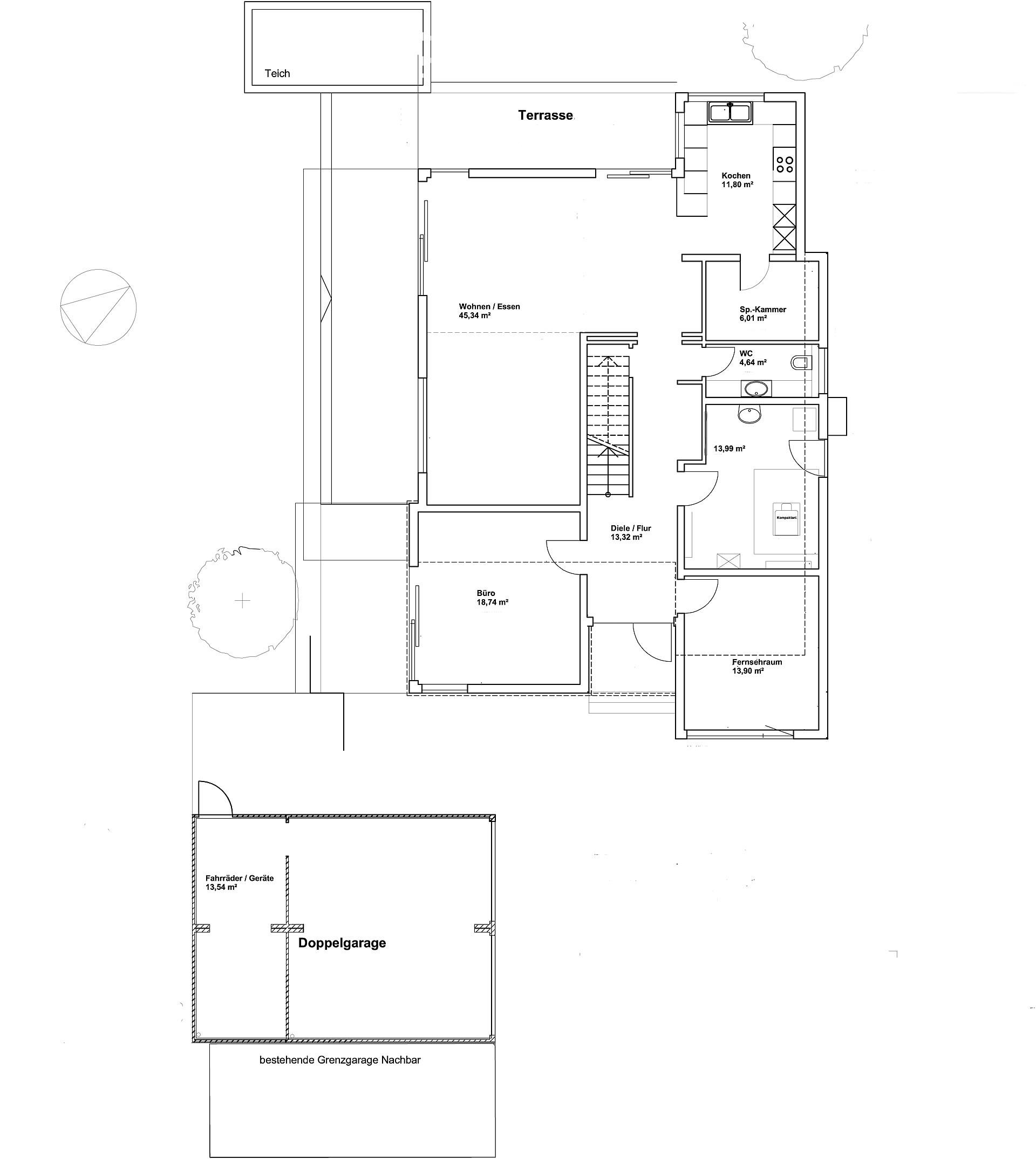 Erdgeschoss Pultdach Klassik 197 von LUXHAUS Vertrieb GmbH & Co. KG