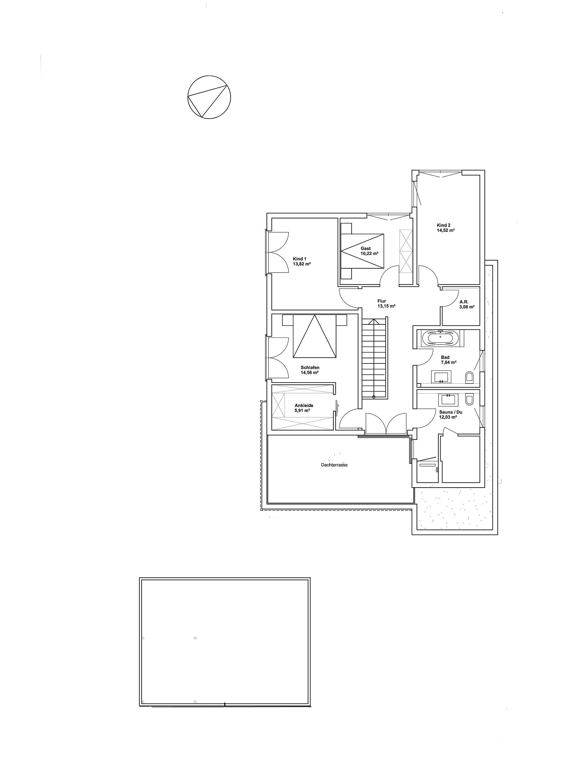 Obergeschoss Pultdach Klassik 197 von LUXHAUS Vertrieb GmbH & Co. KG