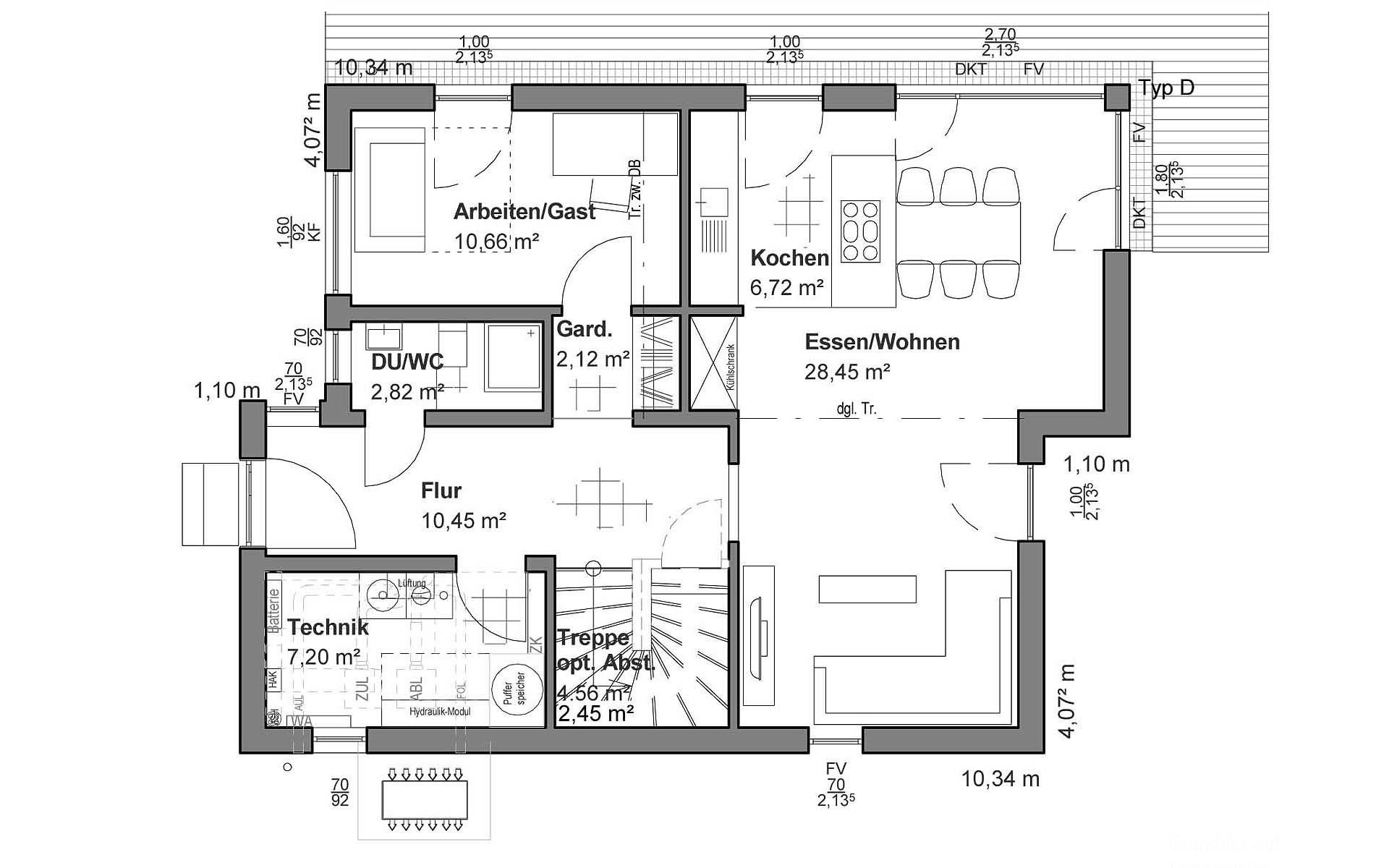 Erdgeschoss Pultdach Modern von LUXHAUS Vertrieb GmbH & Co. KG