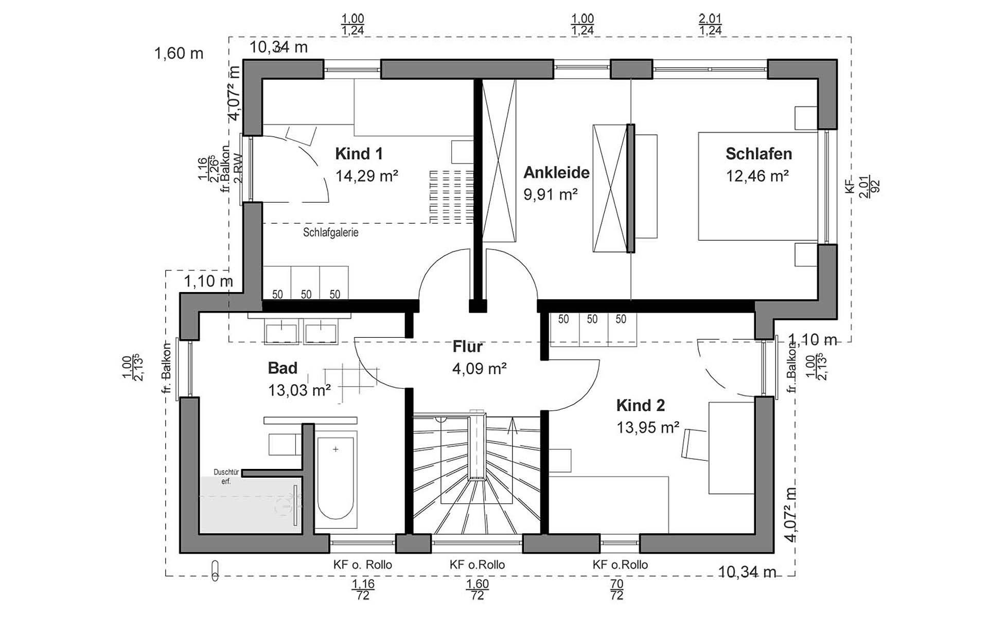 Obergeschoss Pultdach Modern von LUXHAUS Vertrieb GmbH & Co. KG