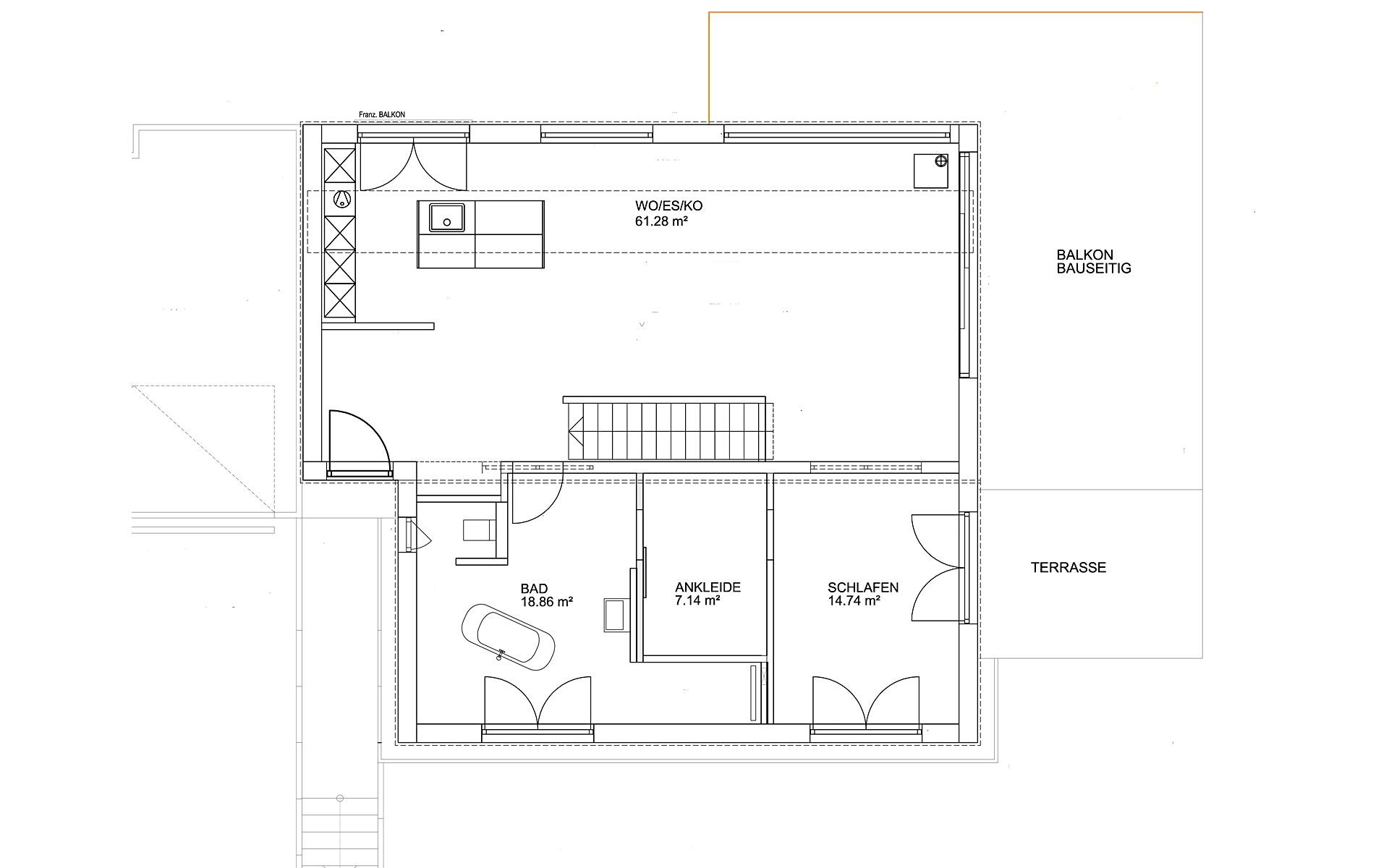 Erdgeschoss Pultdach Modern 102 von LUXHAUS Vertrieb GmbH & Co. KG
