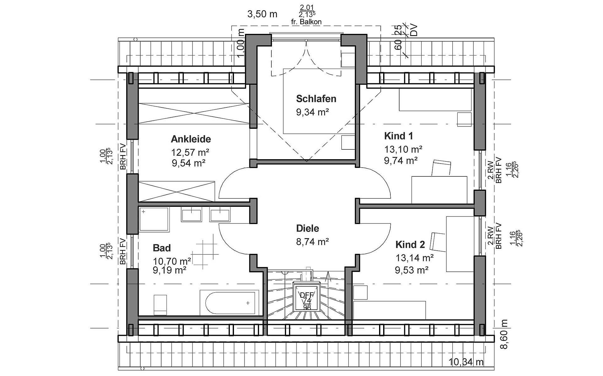 Dachgeschoss Satteldach Klassik von LUXHAUS Vertrieb GmbH & Co. KG
