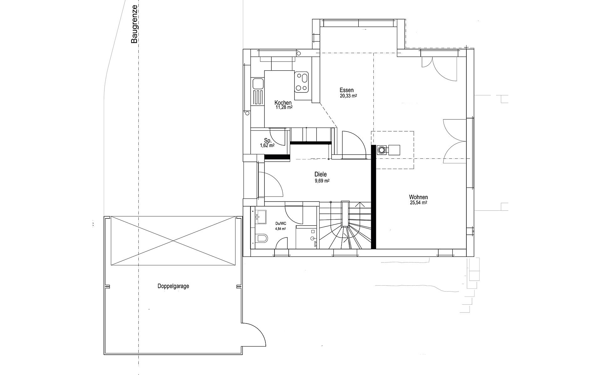 Erdgeschoss Satteldach Landhaus 143 von LUXHAUS Vertrieb GmbH & Co. KG