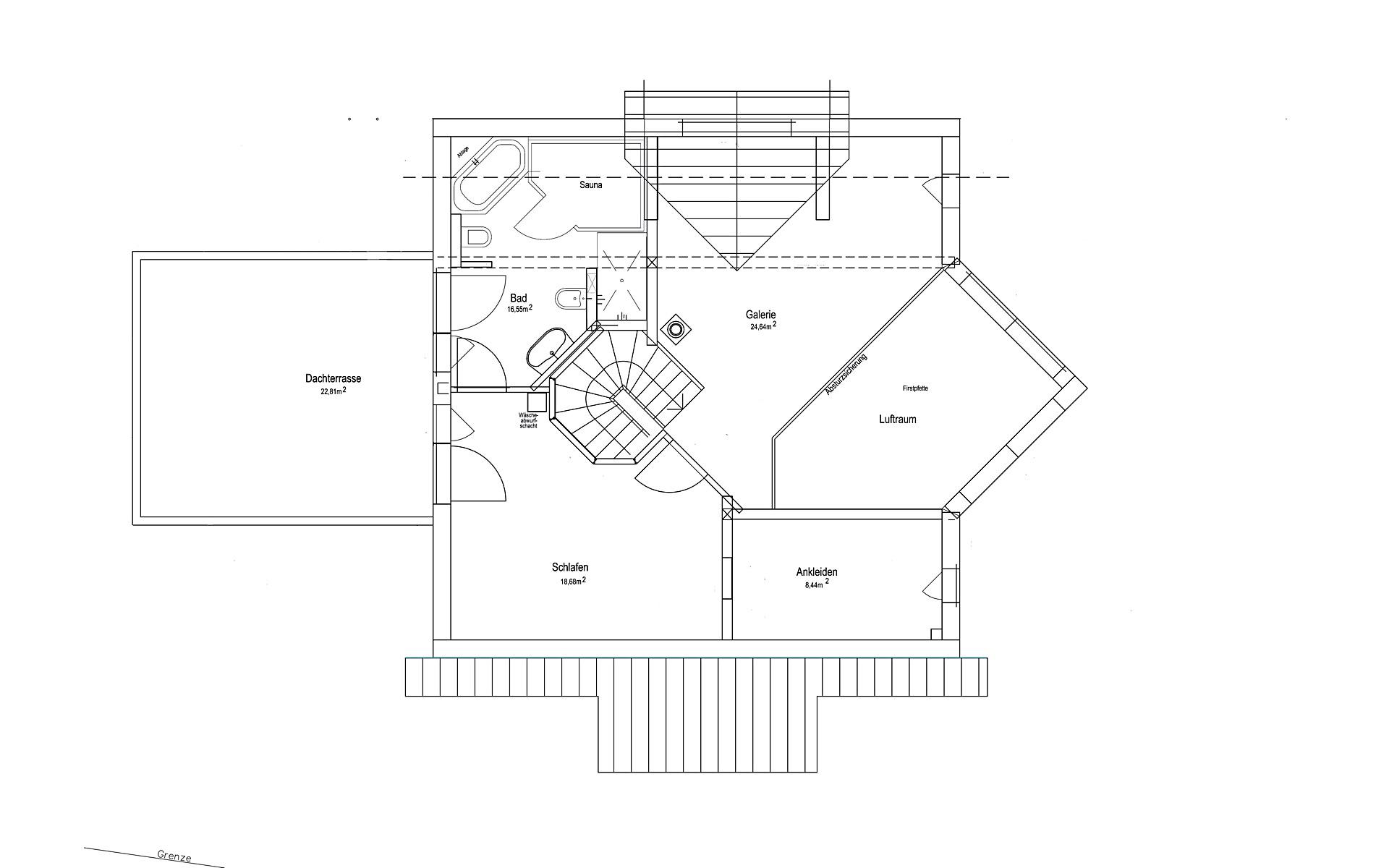 Dachgeschoss Satteldach Landhaus 144 von LUXHAUS Vertrieb GmbH & Co. KG