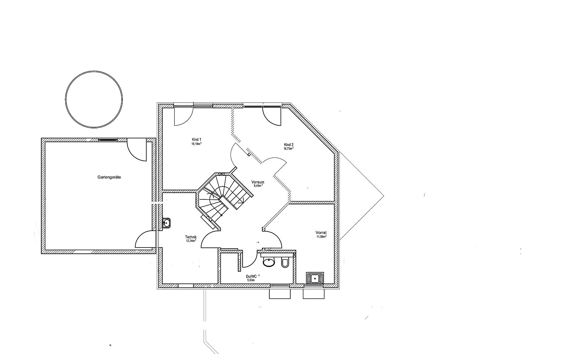 Keller Satteldach Landhaus 144 von LUXHAUS Vertrieb GmbH & Co. KG