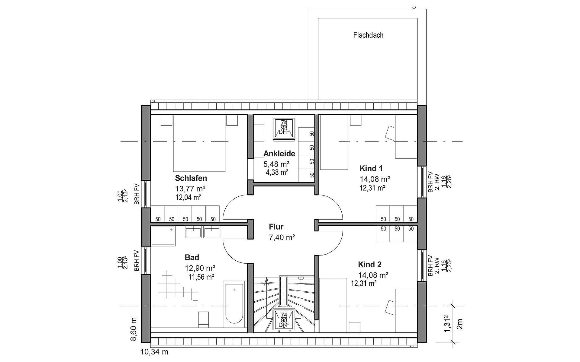 Dachgeschoss Satteldach Modern von LUXHAUS Vertrieb GmbH & Co. KG