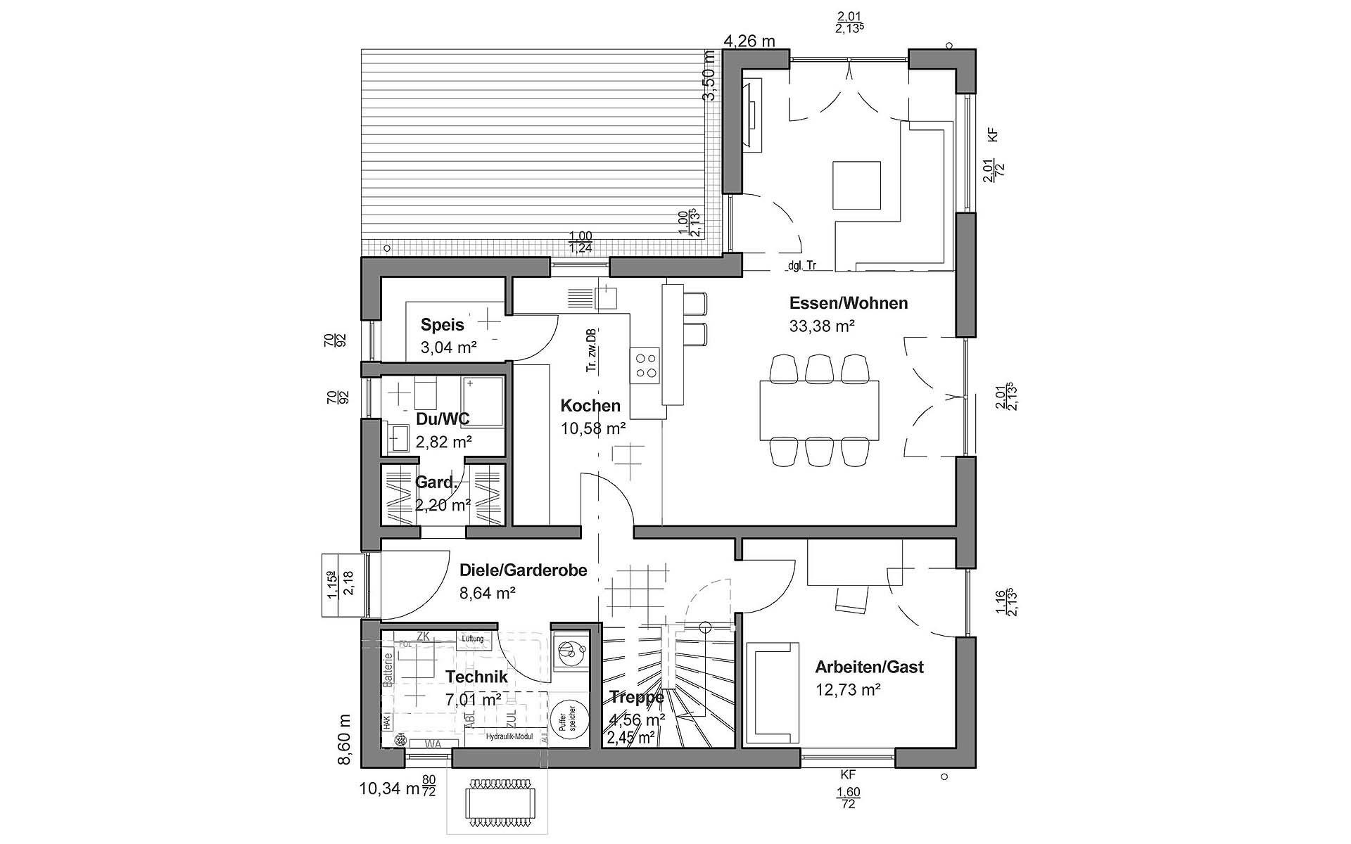 Erdgeschoss Satteldach Modern von LUXHAUS Vertrieb GmbH & Co. KG