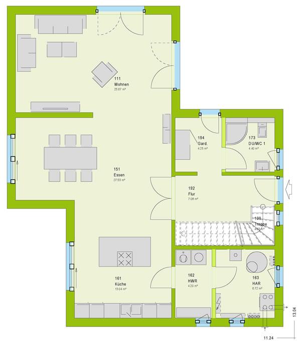Erdgeschoss City 9 von massa haus GmbH
