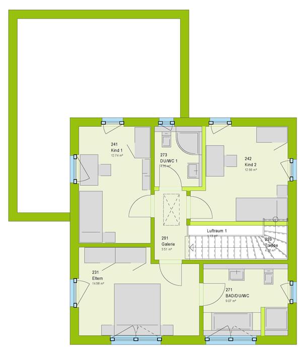 Obergeschoss City 9 von massa haus GmbH