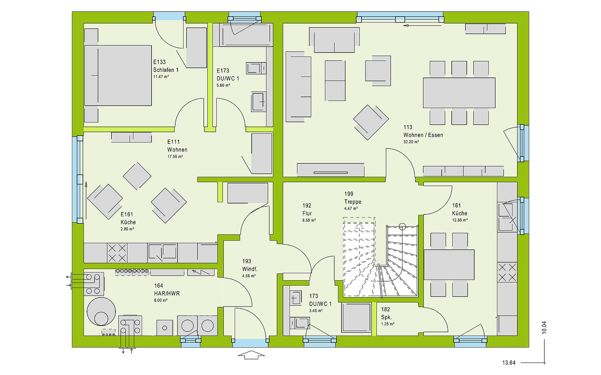 Erdgeschoss FamilyStyle 20.01 S von massa haus GmbH