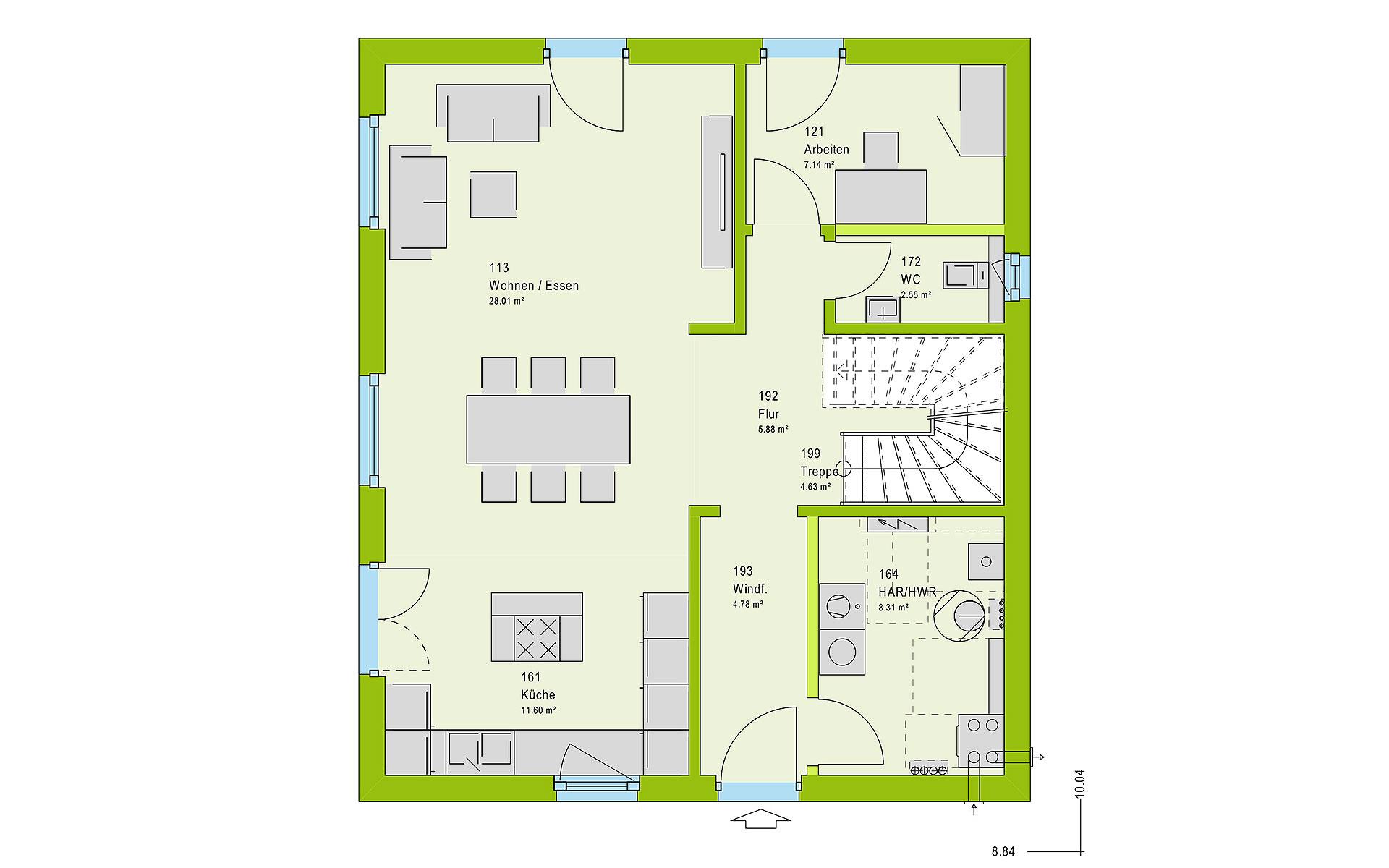 Erdgeschoss LifeStyle 14.04 F von massa haus GmbH