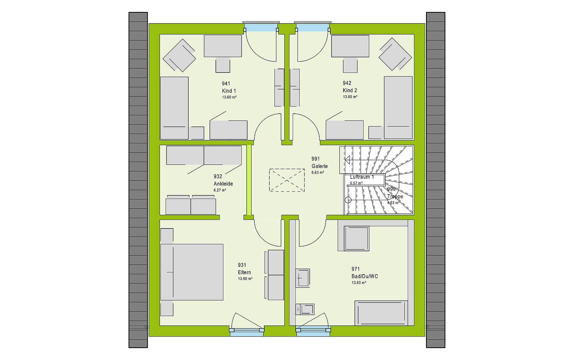 Dachgeschoss LifeStyle 14.04 S von massa haus GmbH