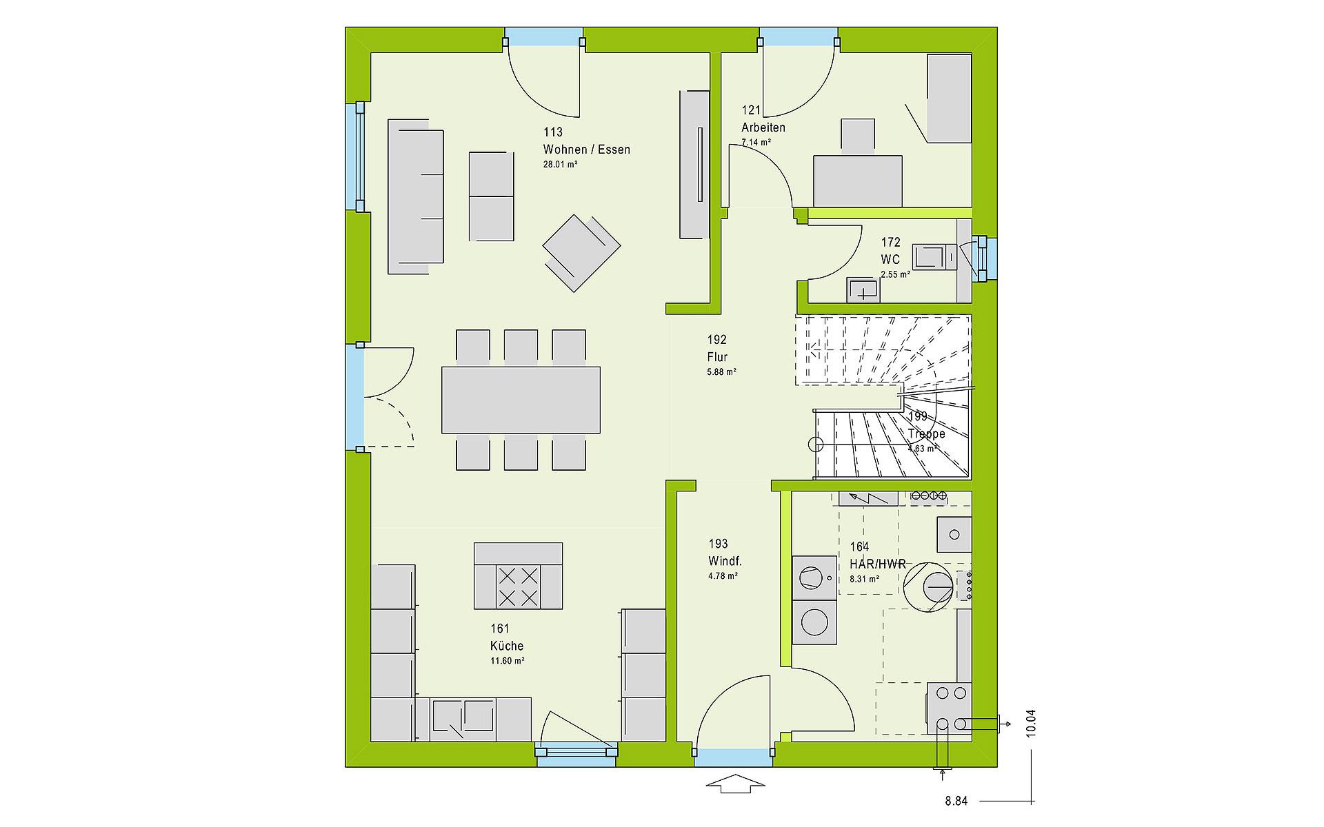 Erdgeschoss LifeStyle 14.04 S von massa haus GmbH