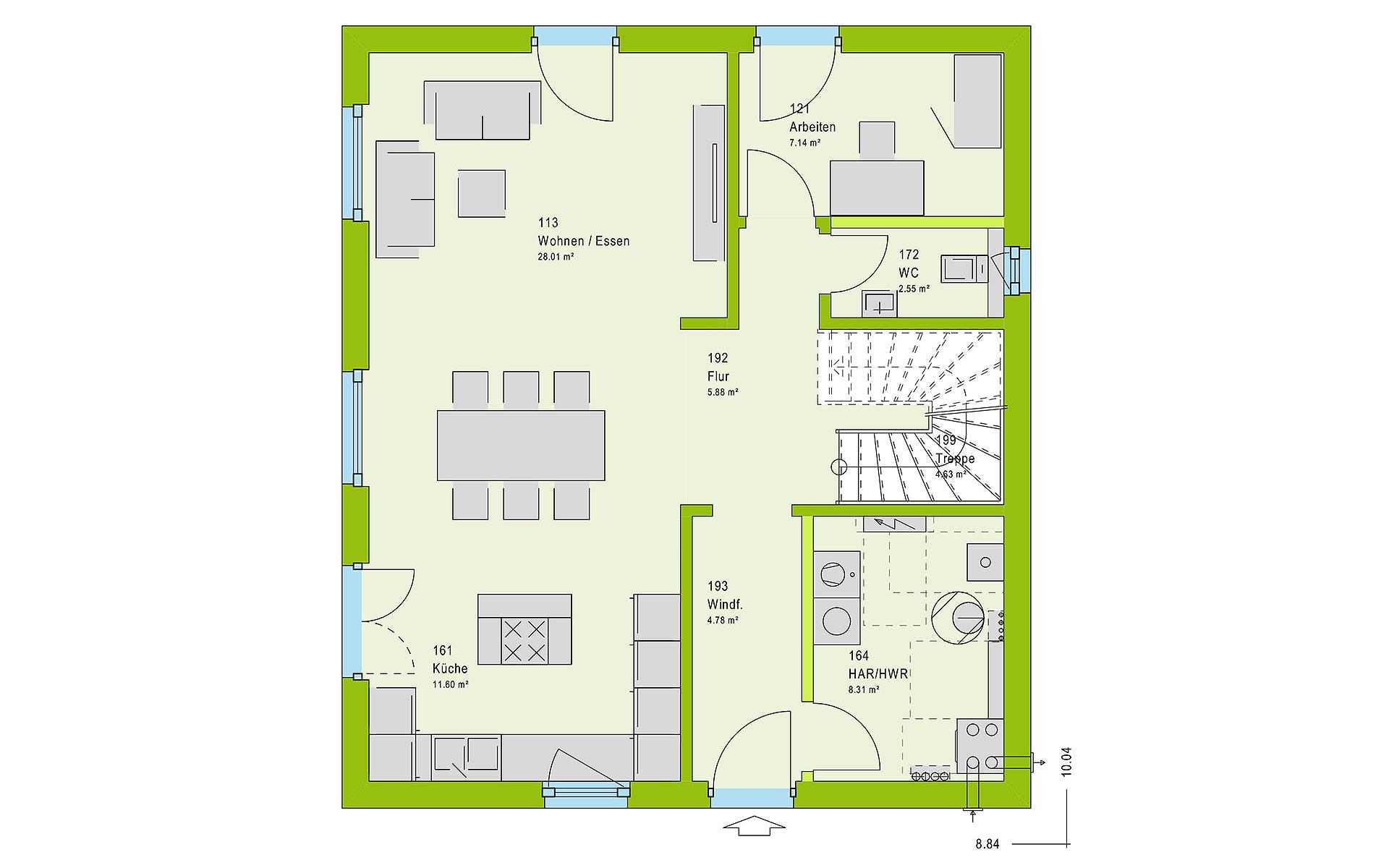 Erdgeschoss LifeStyle 14.04 W von massa haus GmbH