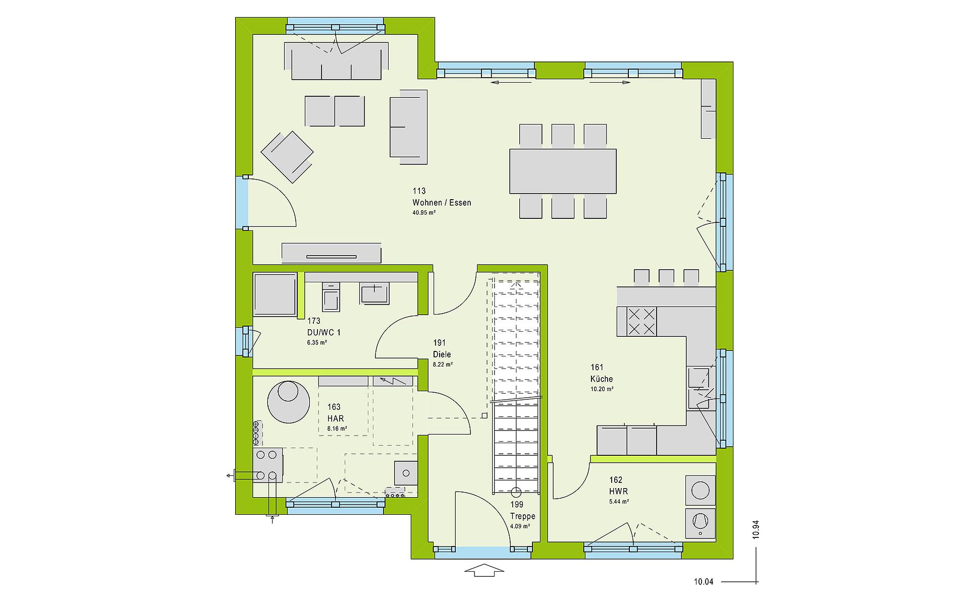 Erdgeschoss LifeStyle 16.05 P von massa haus GmbH