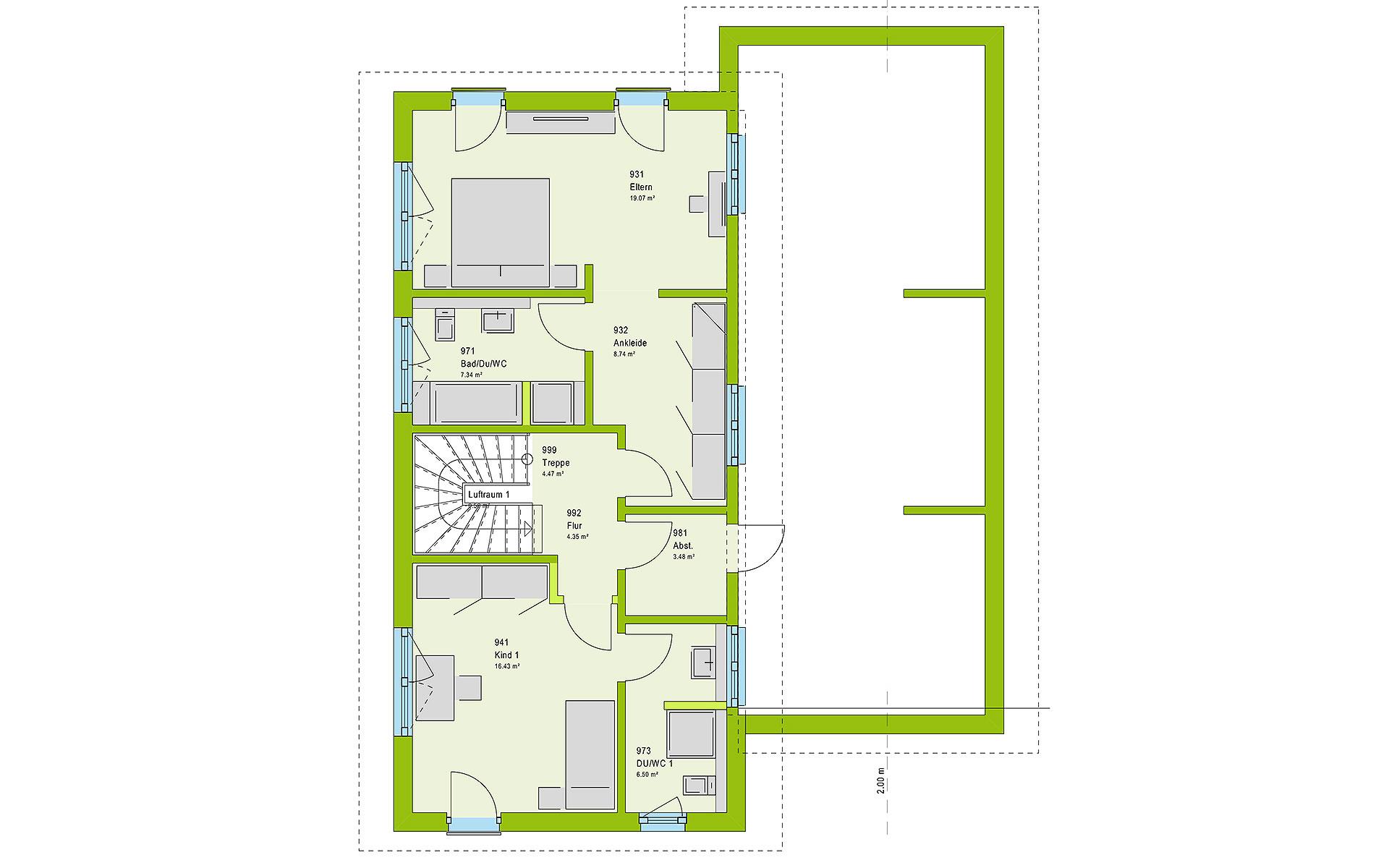 Dachgeschoss LifeStyle 18.03 P von massa haus GmbH