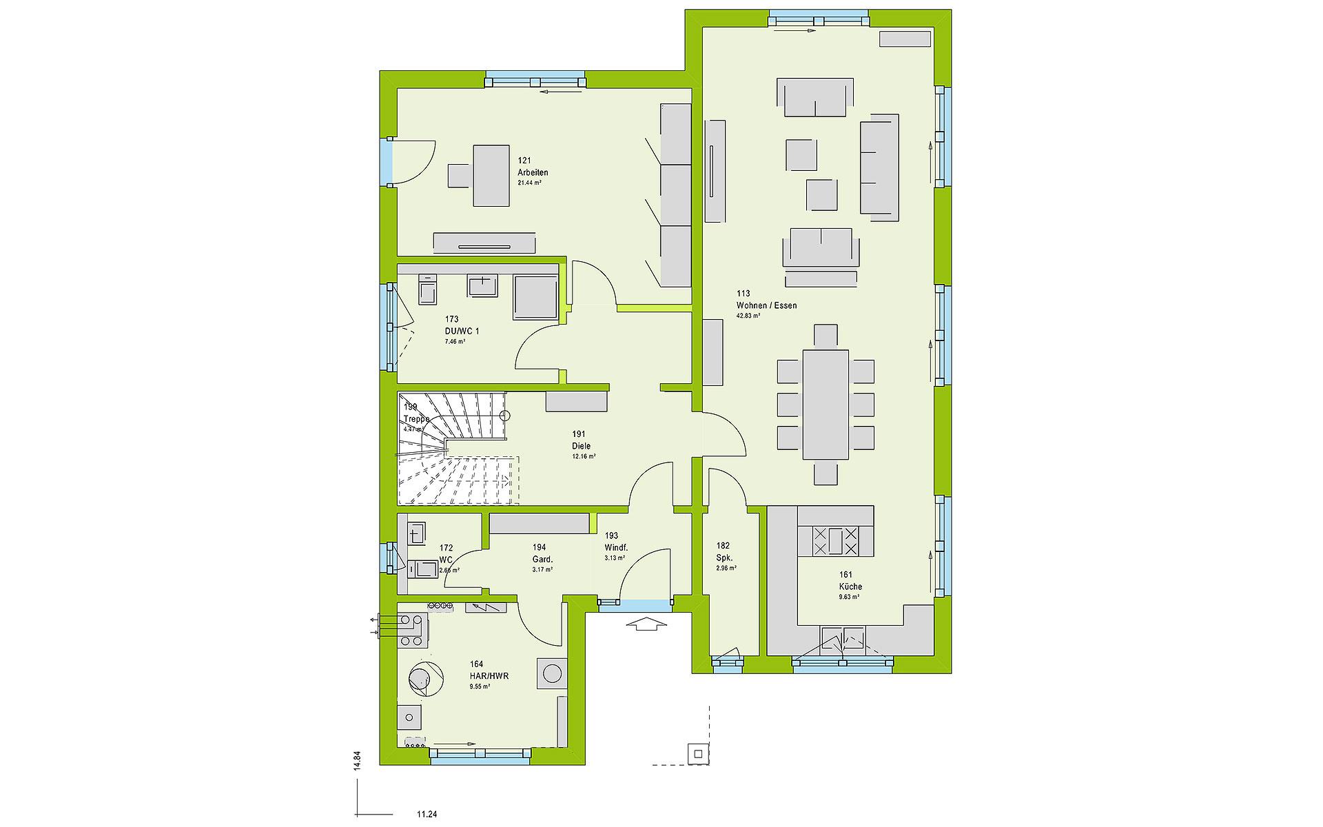 Erdgeschoss LifeStyle 18.03 P von massa haus GmbH