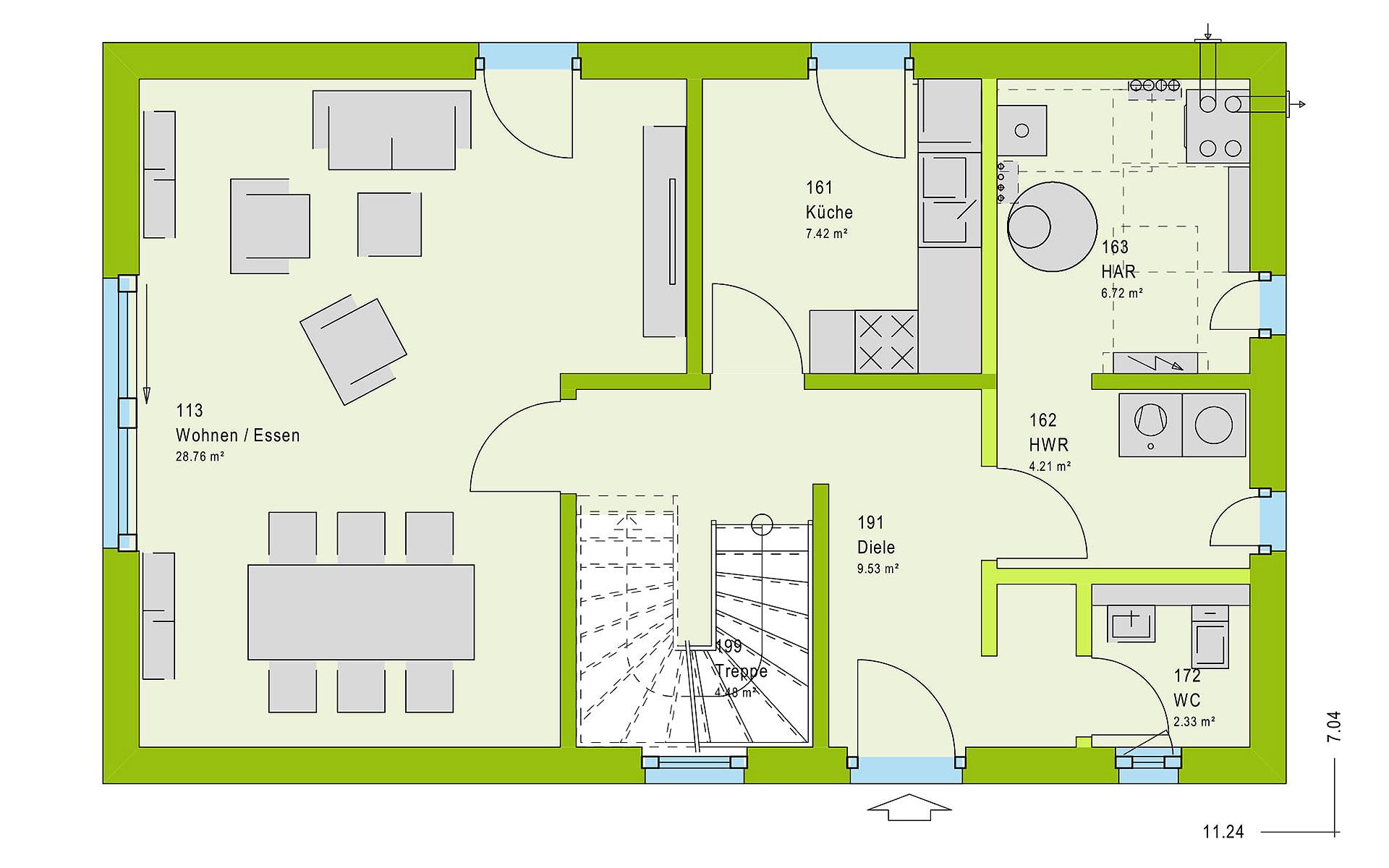 Erdgeschoss LifeStyle 19.01 S von massa haus GmbH