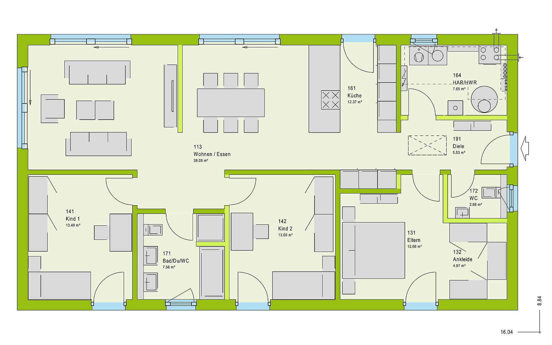 Erdgeschoss ComfortStyle 11.02 S von massa haus GmbH