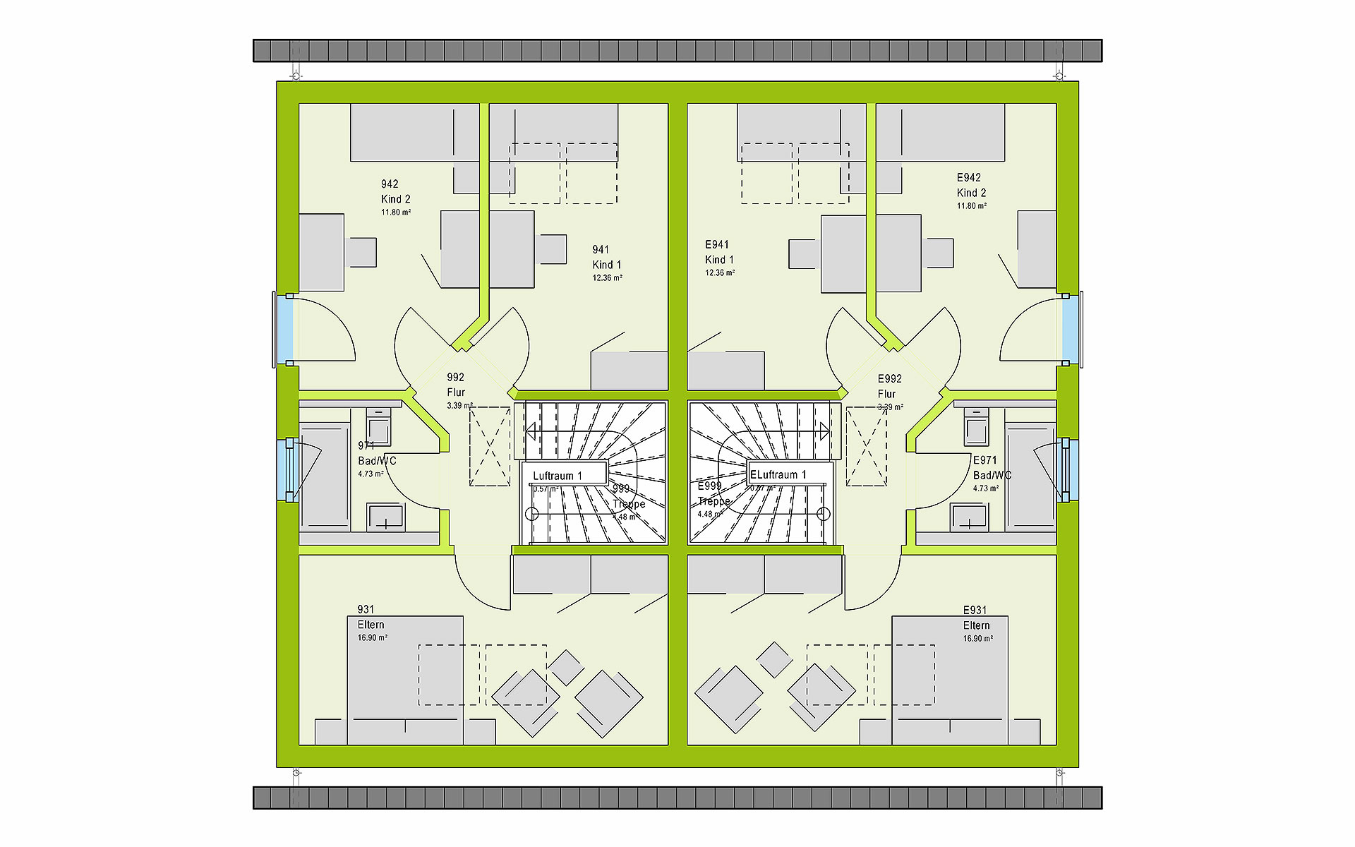 Dachgeschoss FamilyStyle 21.02 S von massa haus GmbH