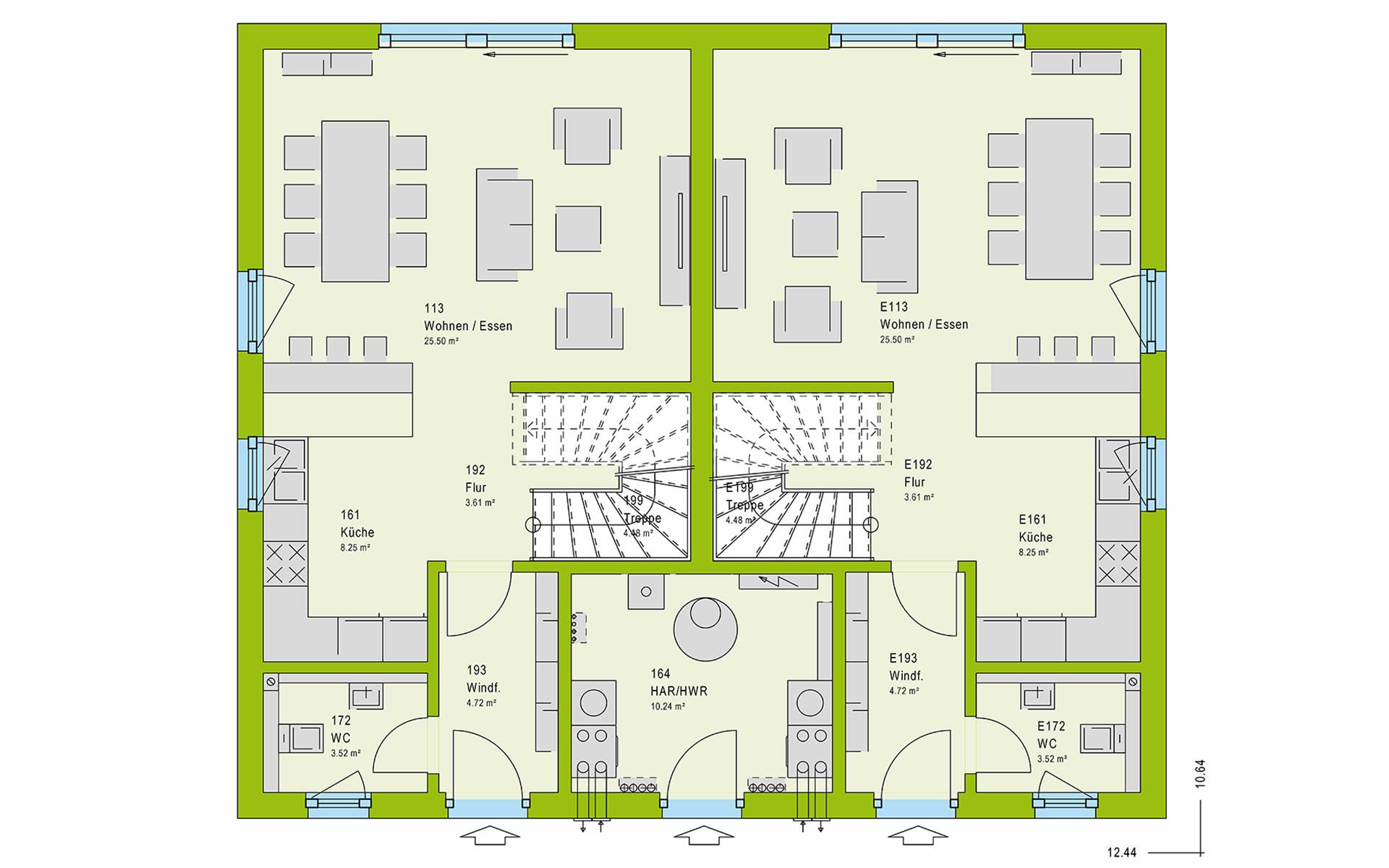 Erdgeschoss FamilyStyle 21.02 S von massa haus GmbH