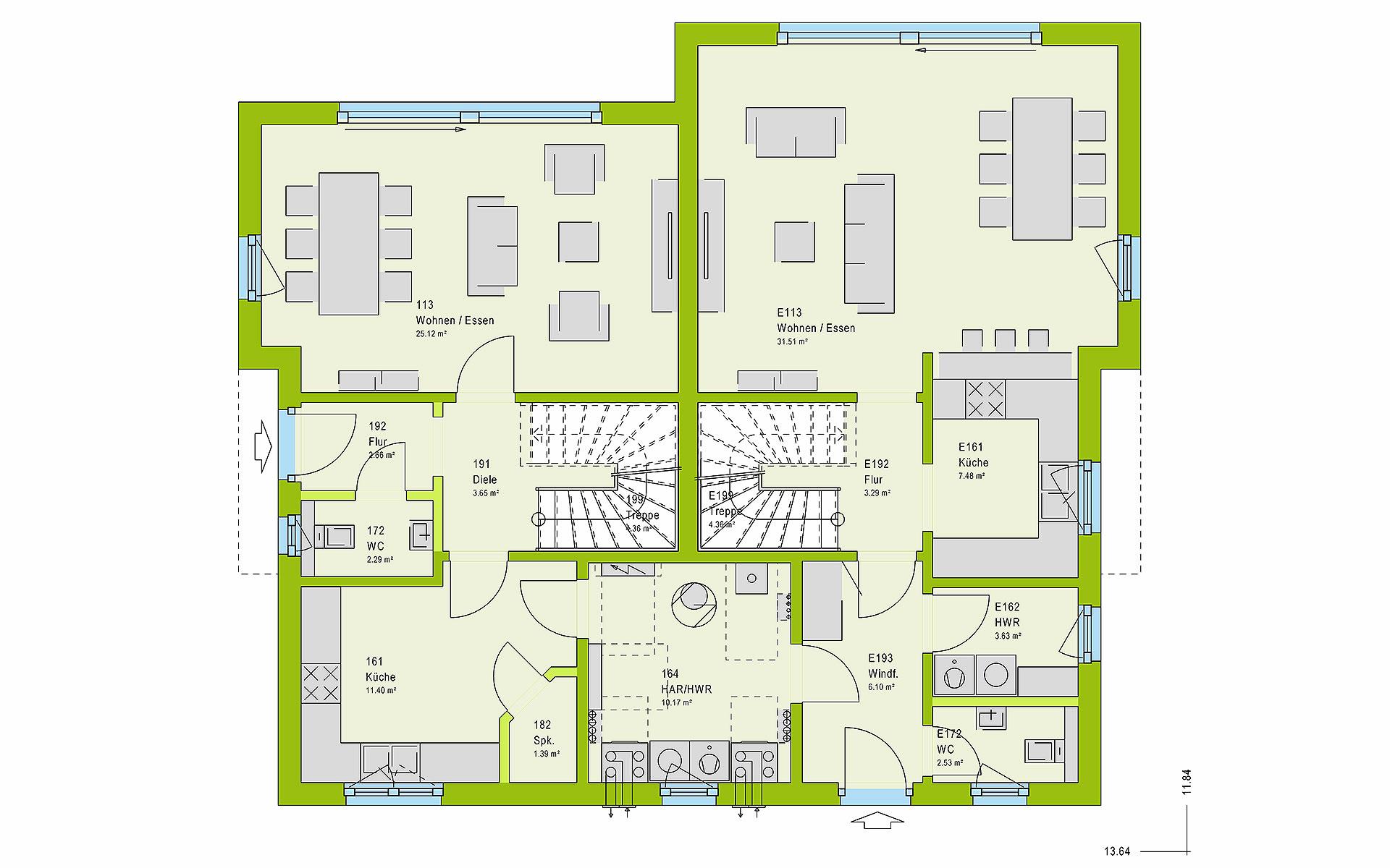 Erdgeschoss FamilyStyle 24.01 S von massa haus GmbH