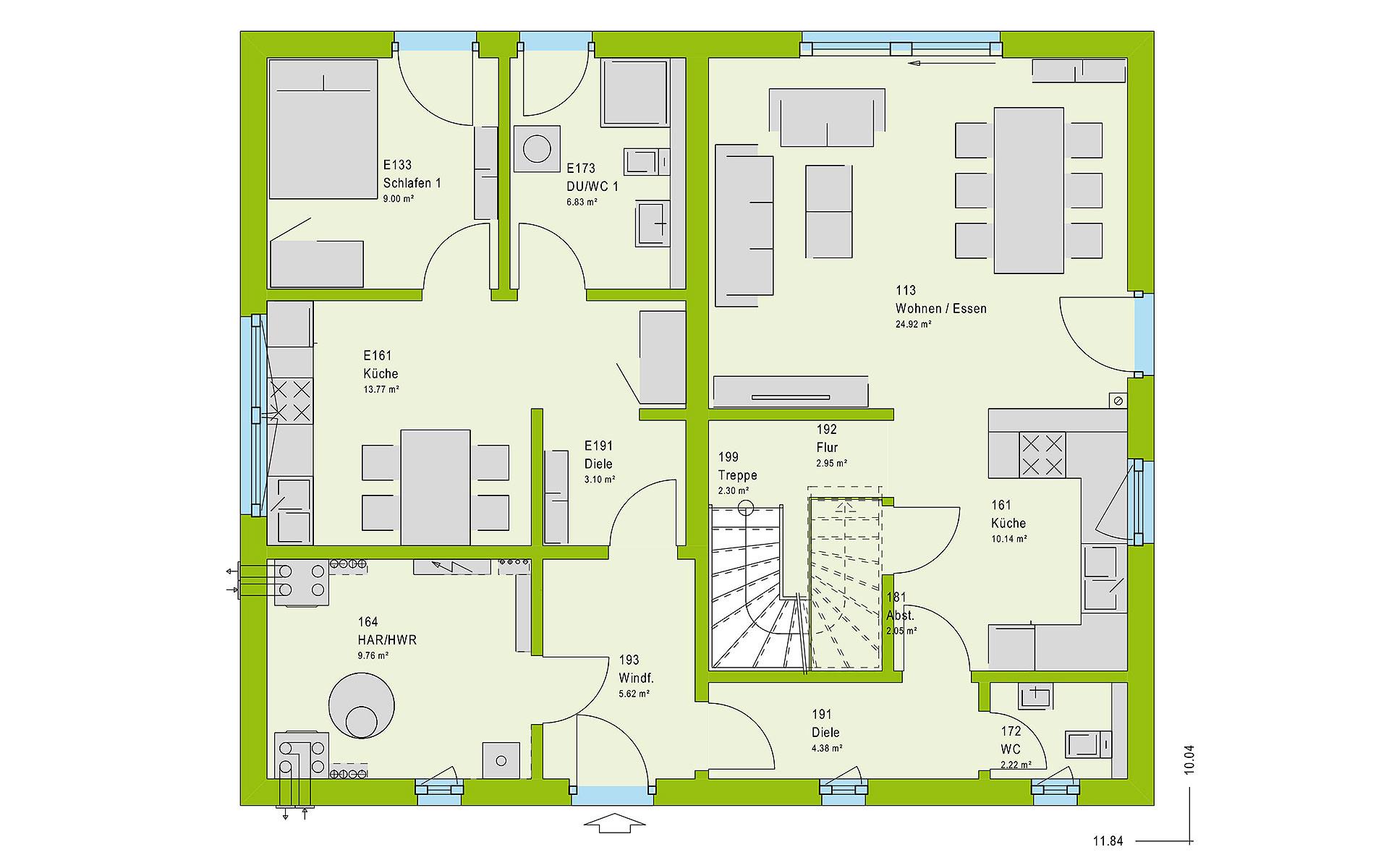 Erdgeschoss FamilyStyle 18.01 S von massa haus GmbH
