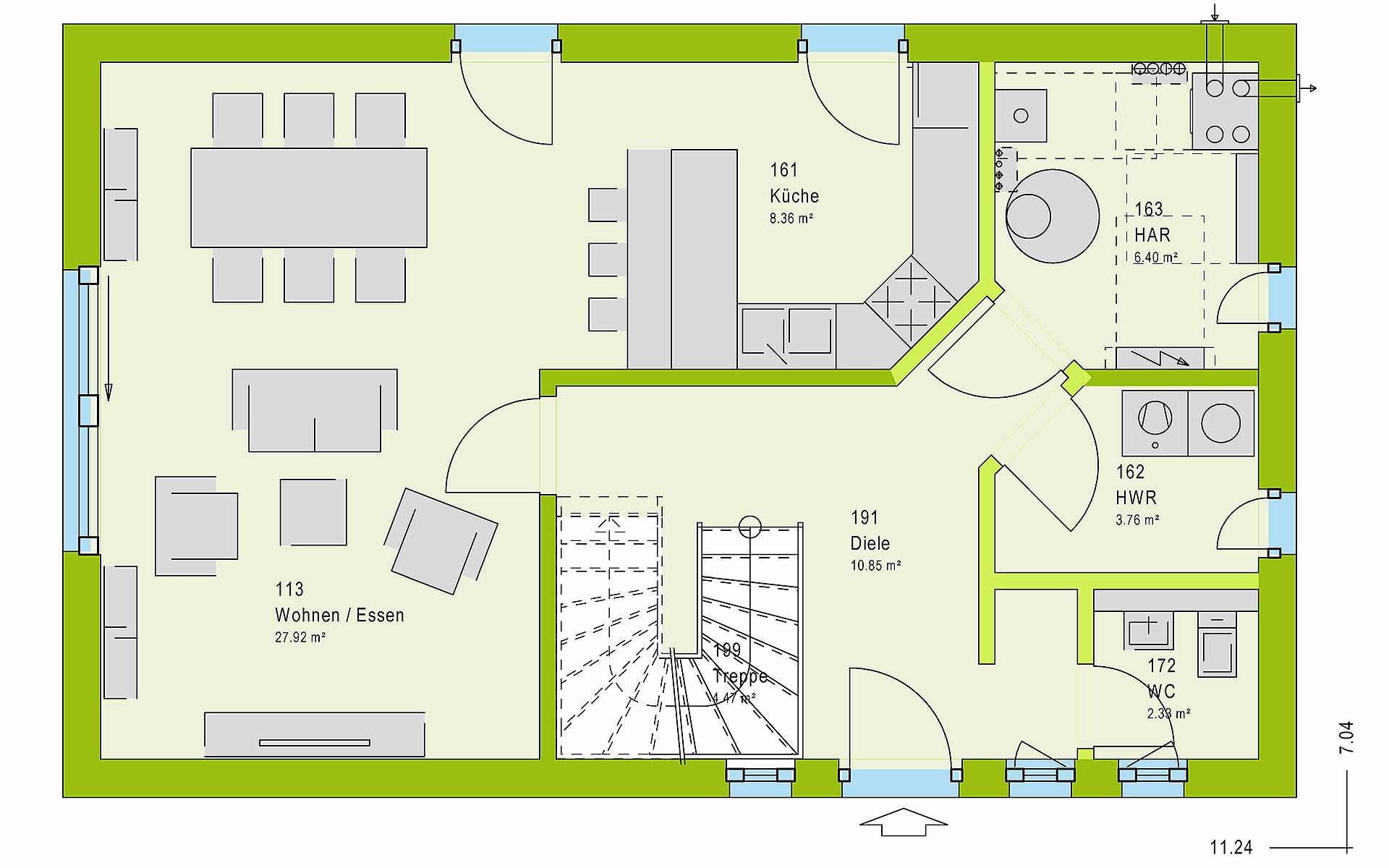 Erdgeschoss LifeStyle 12.01 S von massa haus GmbH