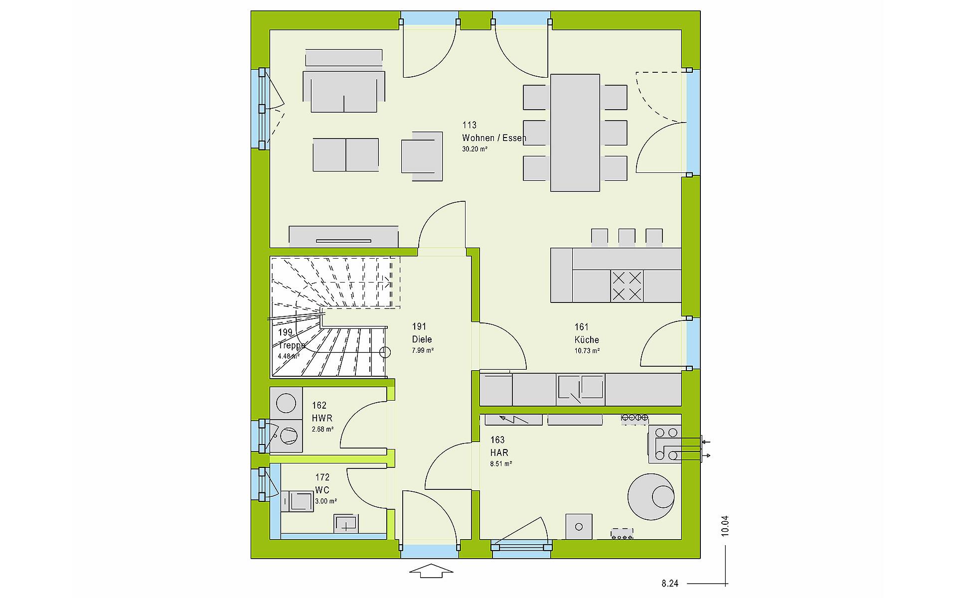 Erdgeschoss LifeStyle 13.01 S von massa haus GmbH