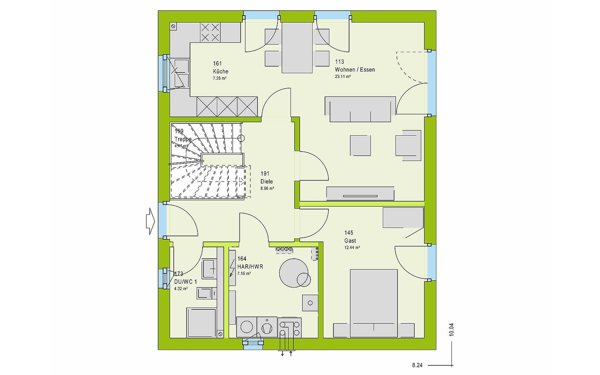 Erdgeschoss LifeStyle 13.02 S von massa haus GmbH