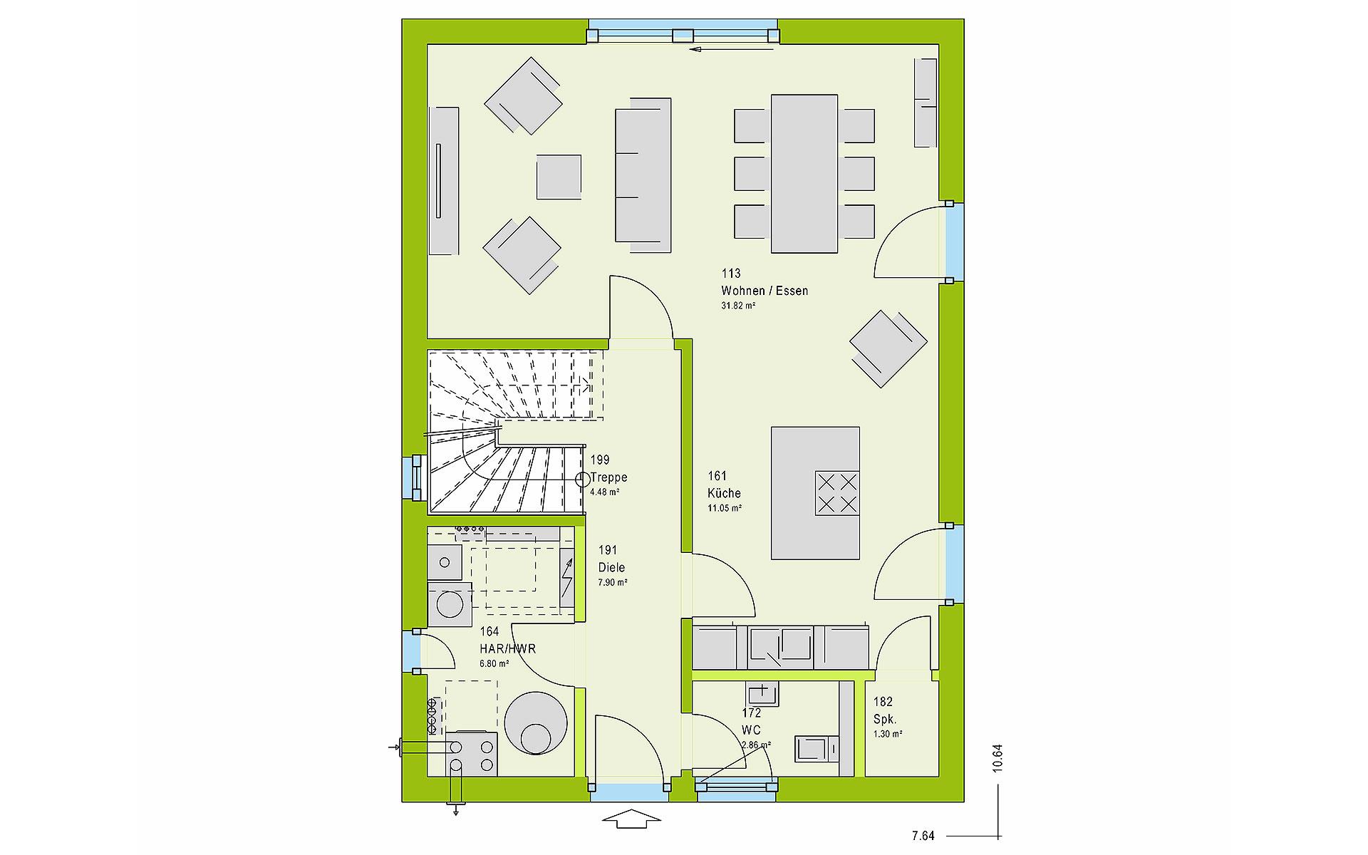 Erdgeschoss LifeStyle 13.07 S von massa haus GmbH
