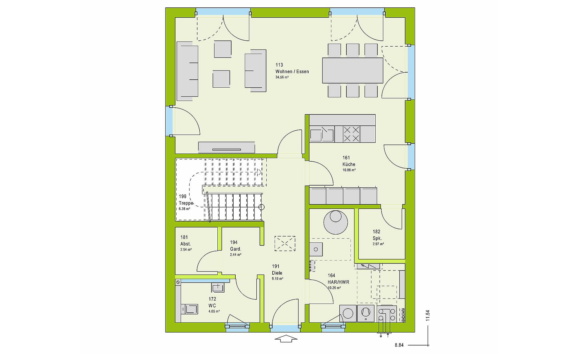 Erdgeschoss LifeStyle 13.09 W von massa haus GmbH