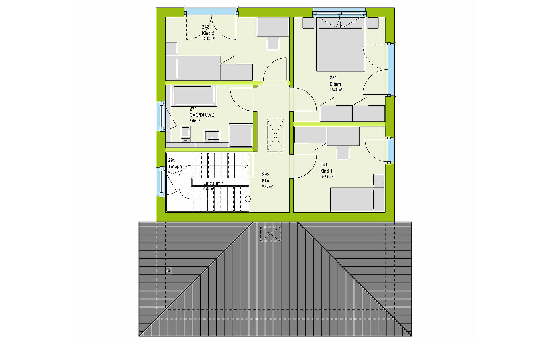 Obergeschoss LifeStyle 13.09 W von massa haus GmbH