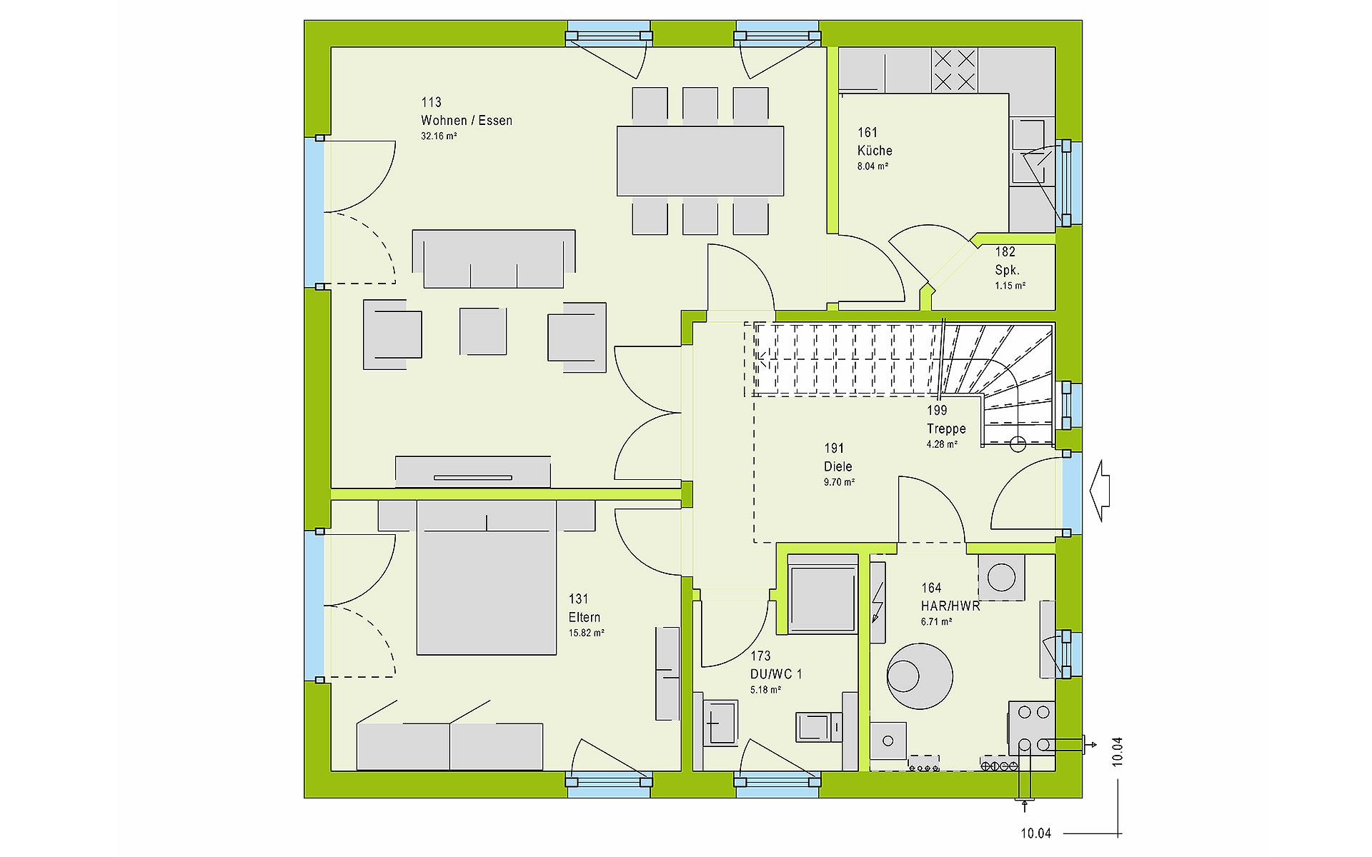 Erdgeschoss LifeStyle 14.01 S von massa haus GmbH