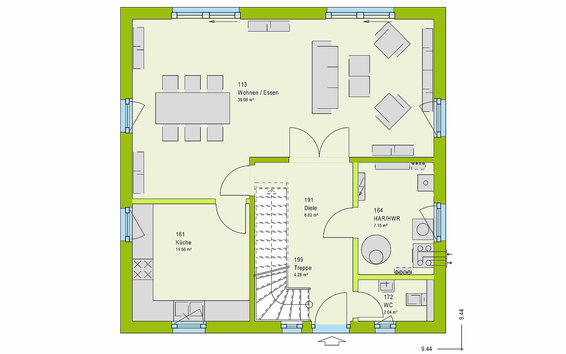 Erdgeschoss LifeStyle 14.02 S von massa haus GmbH