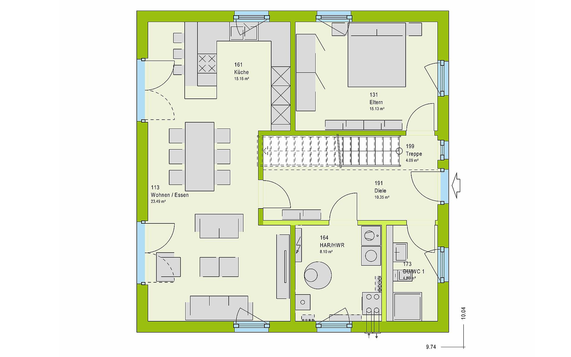 Erdgeschoss LifeStyle 15.01 S von massa haus GmbH