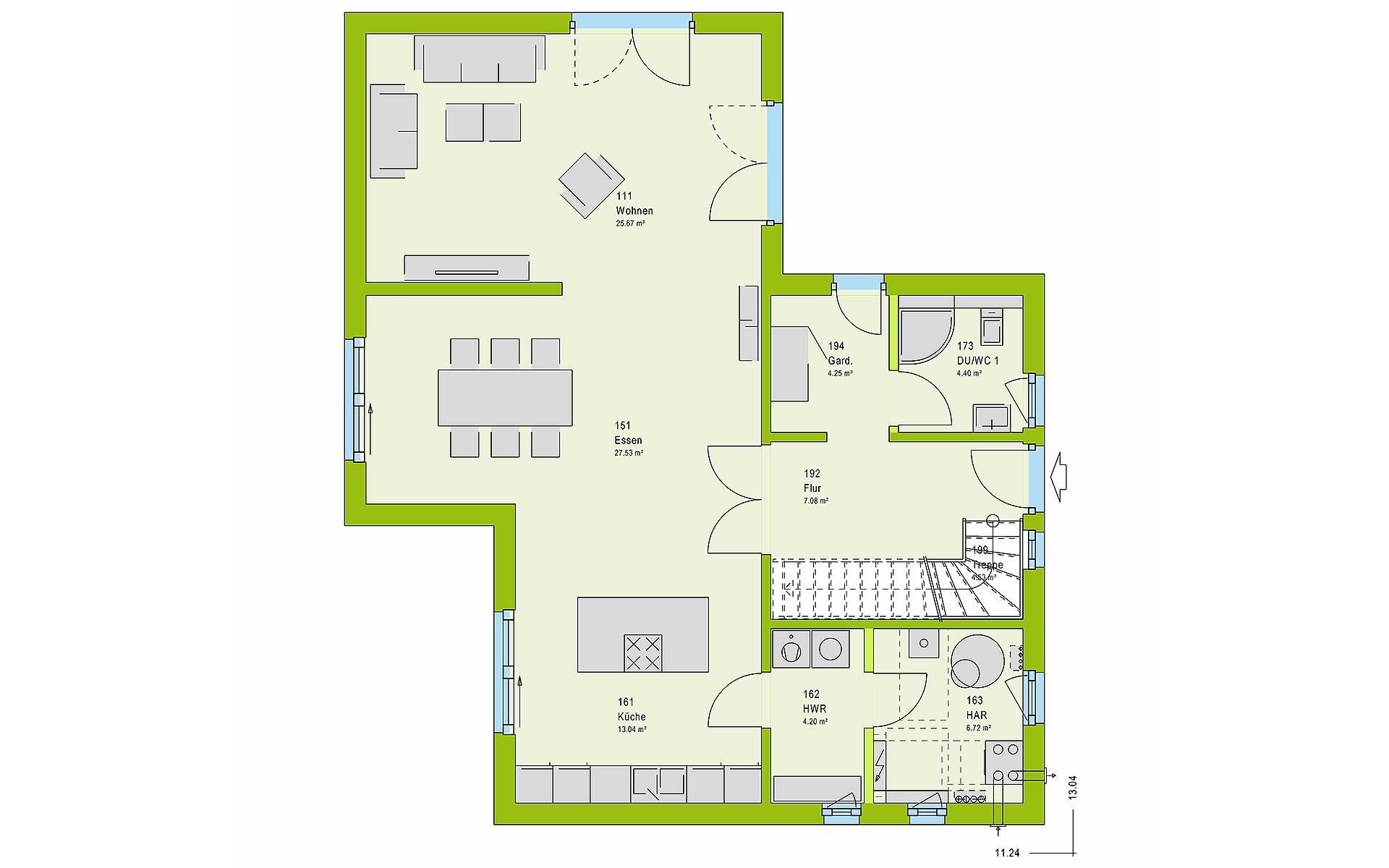 Erdgeschoss LifeStyle 15.02 W von massa haus GmbH