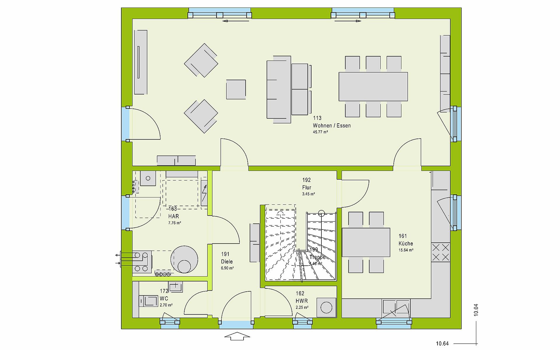 Erdgeschoss LifeStyle 16.02 S von massa haus GmbH