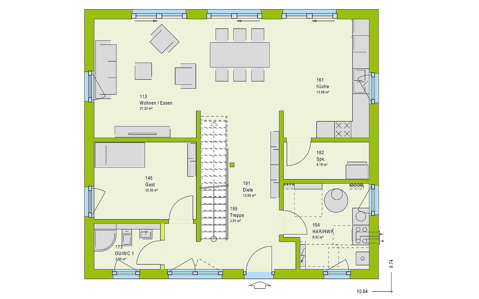 Erdgeschoss LifeStyle 16.03 S von massa haus GmbH