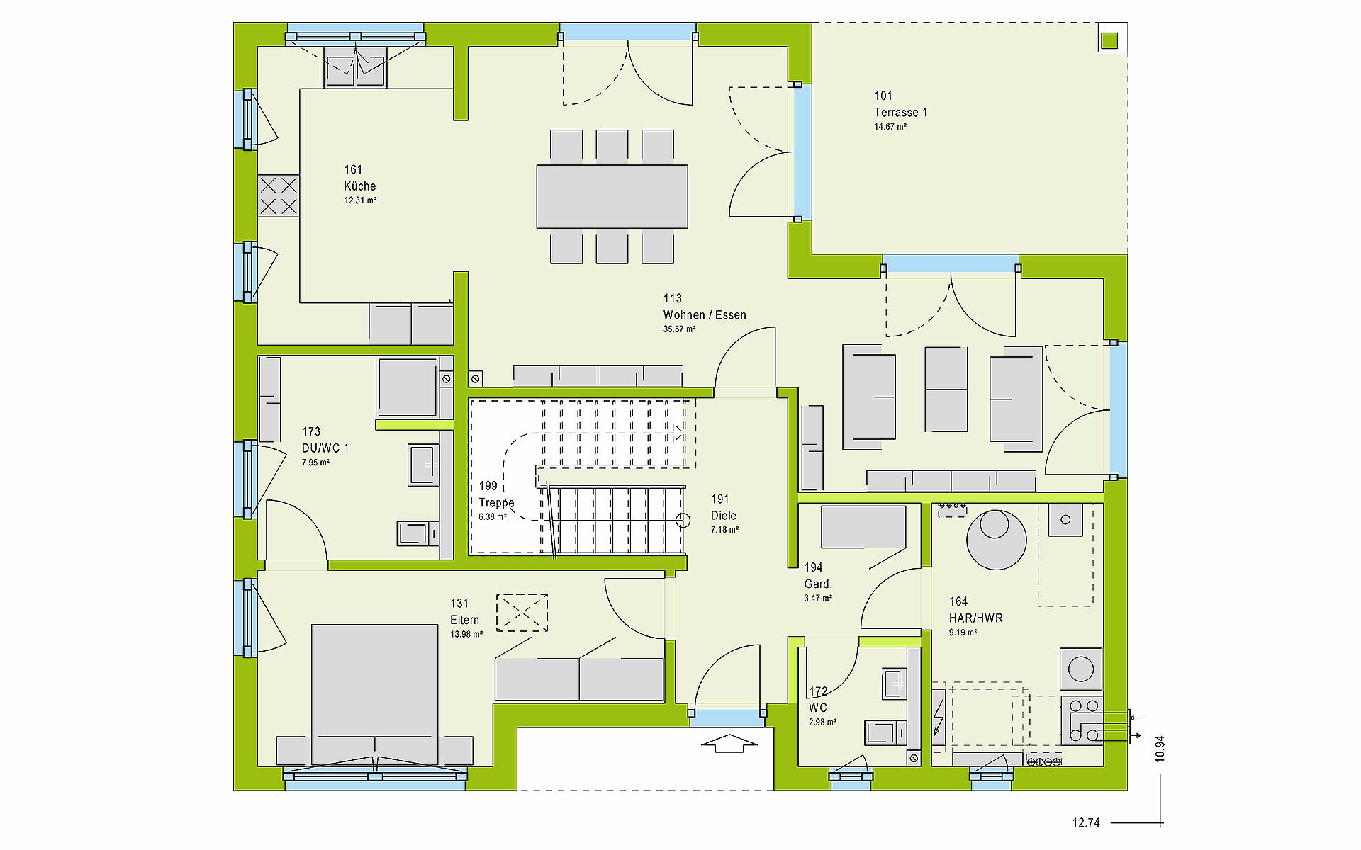 Erdgeschoss LifeStyle 17.02 W von massa haus GmbH