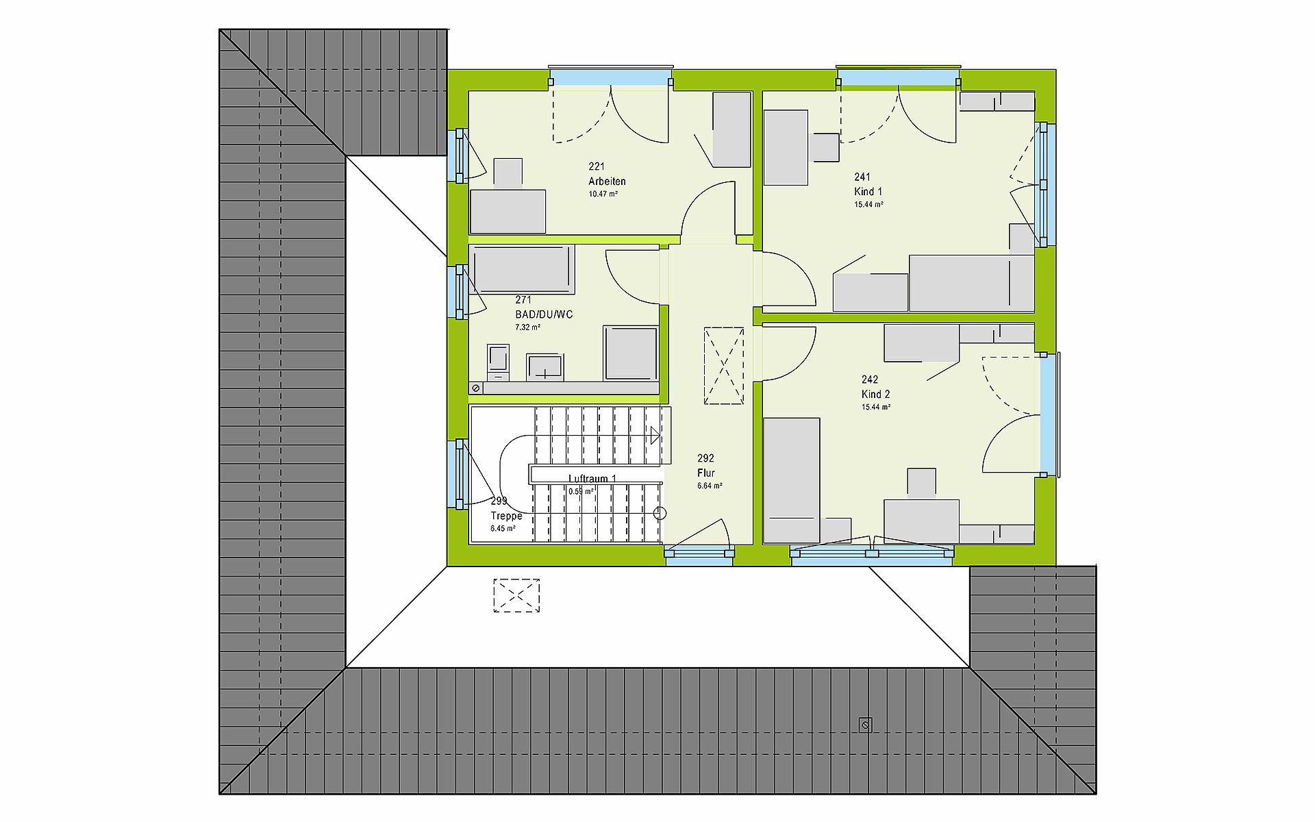 Obergeschoss LifeStyle 17.02 W von massa haus GmbH