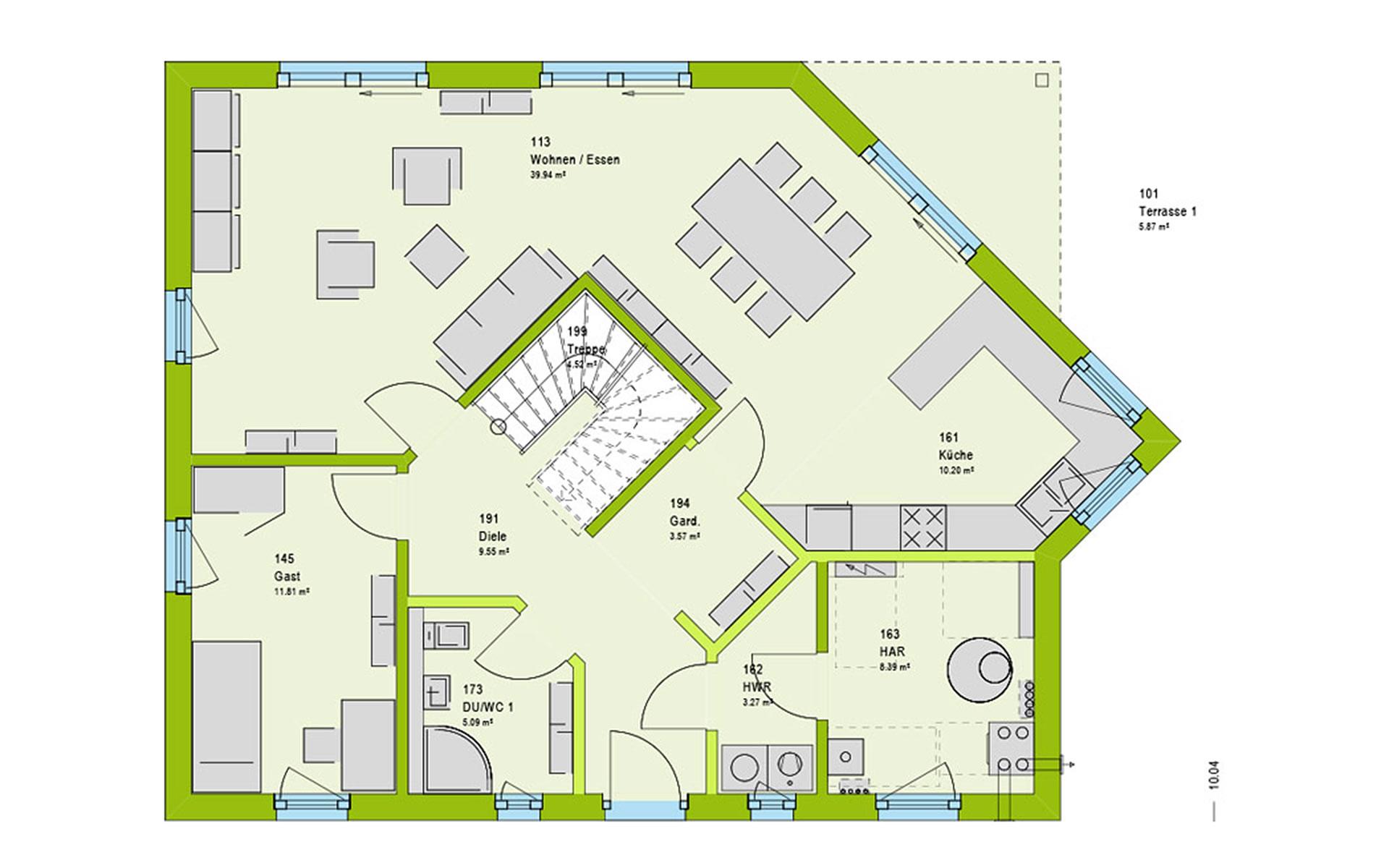 Erdgeschoss LifeStyle 18.01 S von massa haus GmbH