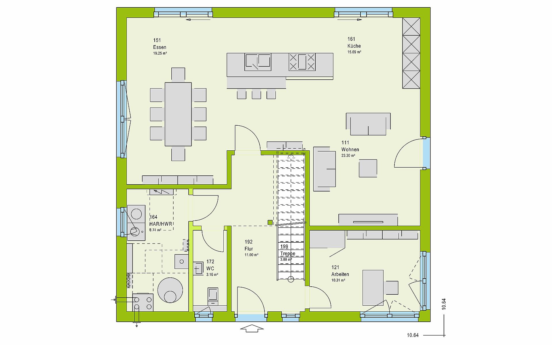 Erdgeschoss LifeStyle 18.04 W von massa haus GmbH