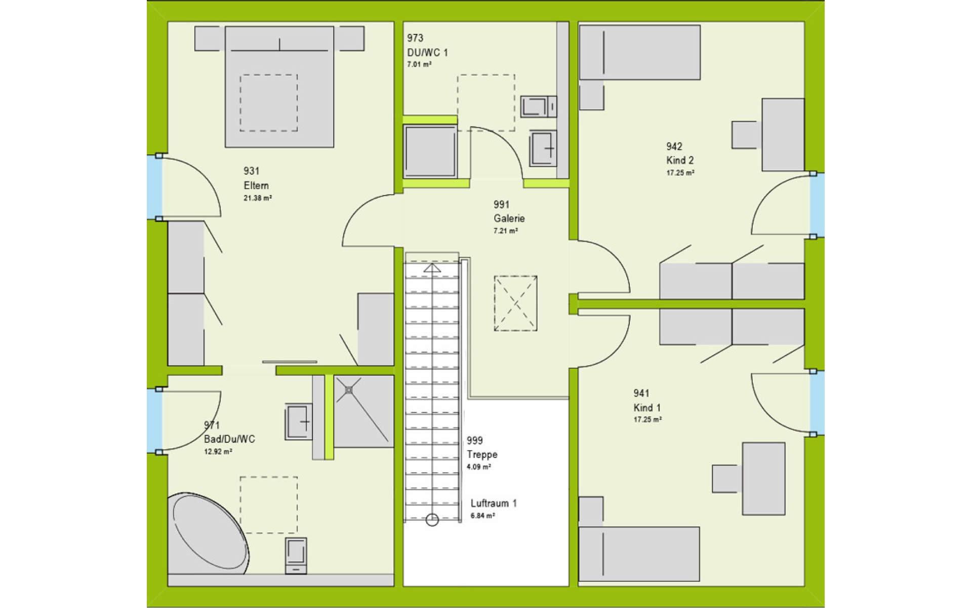 Dachgeschoss LifeStyle 18.06 S von massa haus GmbH
