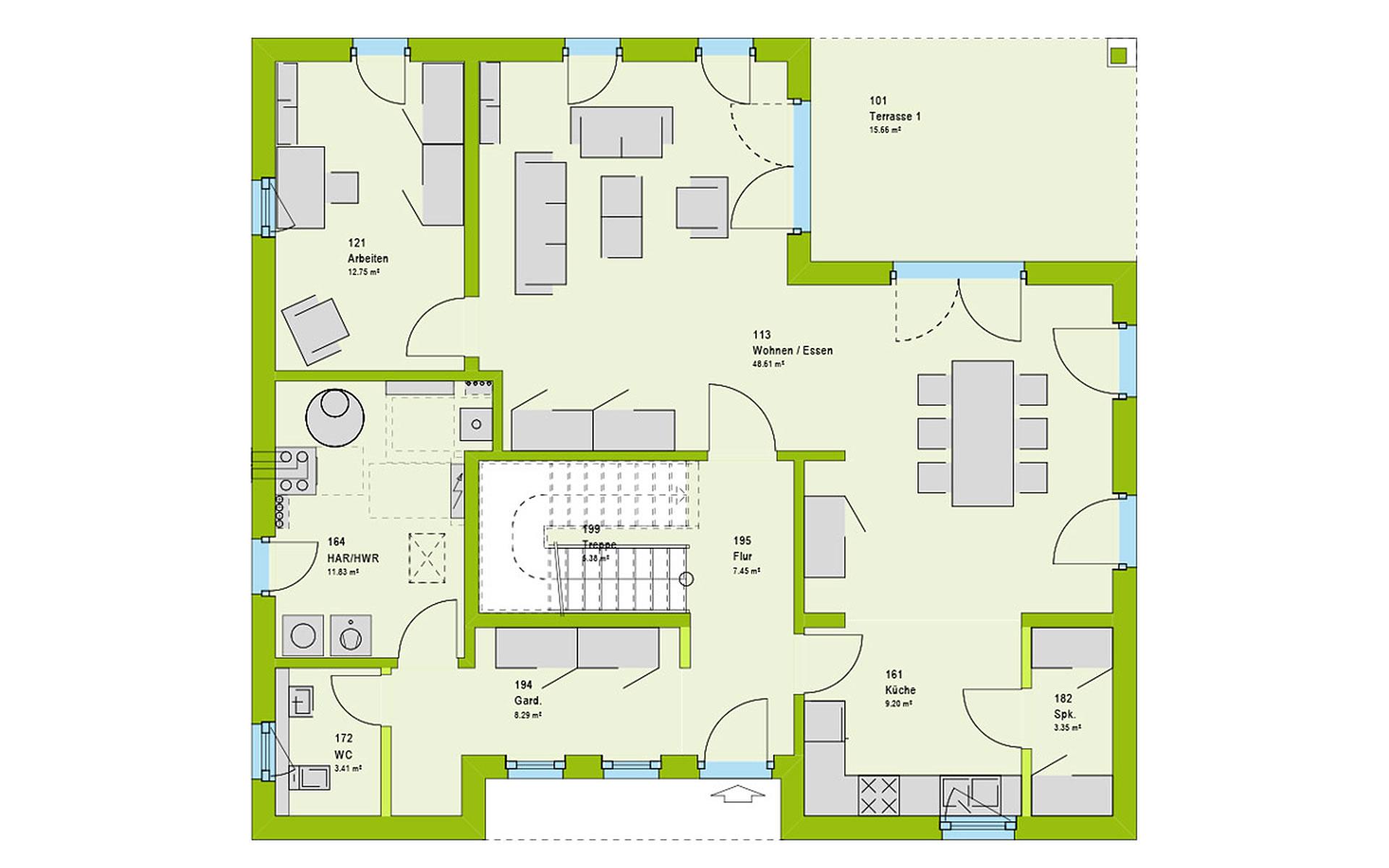 Erdgeschoss LifeStyle 19.03 W von massa haus GmbH