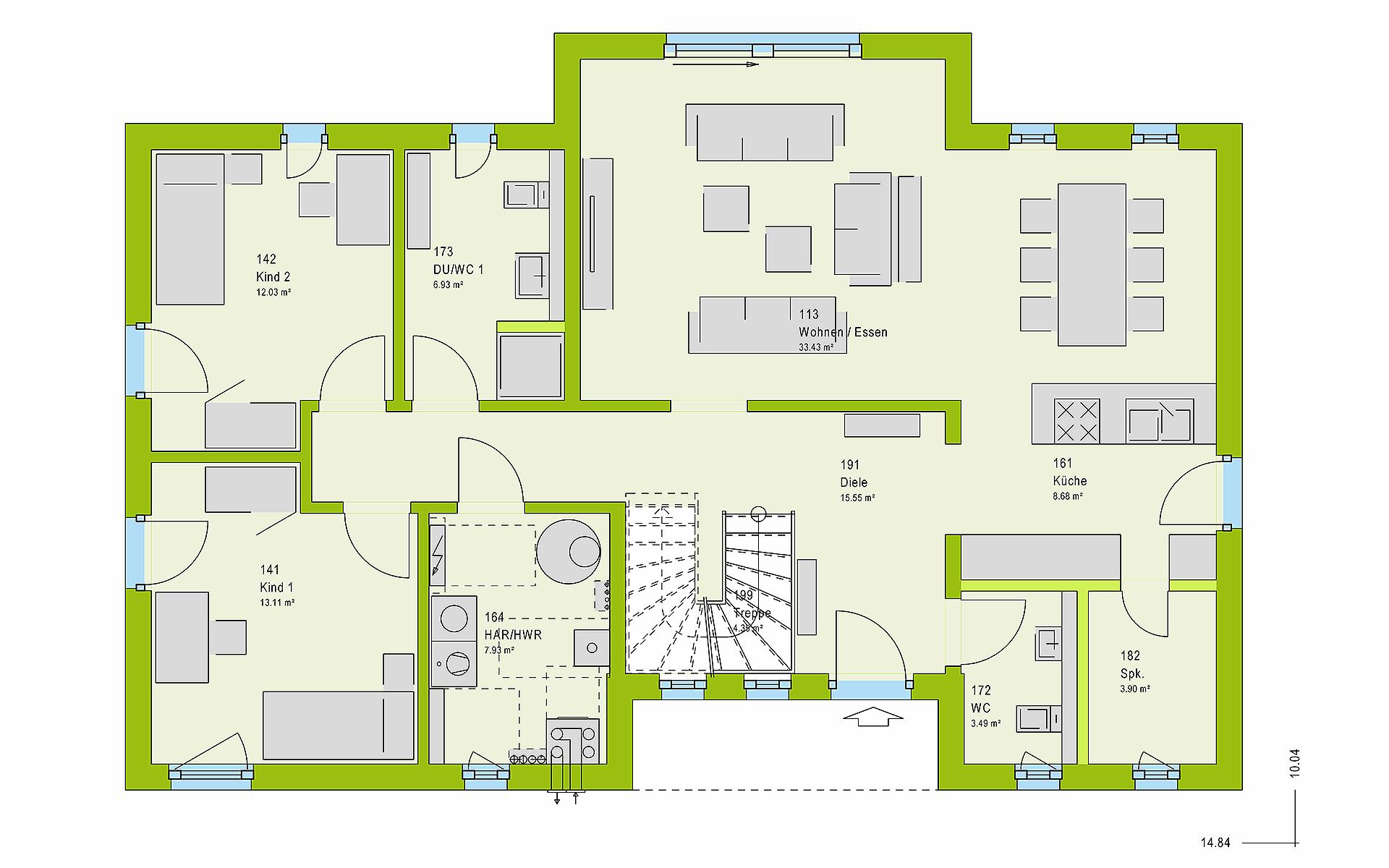 Erdgeschoss LifeStyle 19.04 F von massa haus GmbH